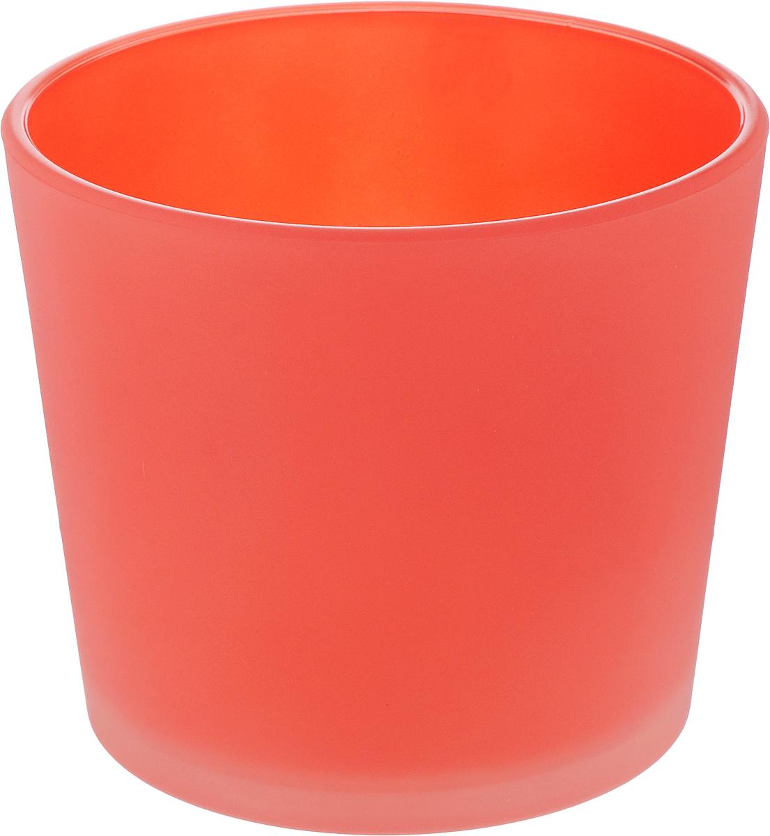 Кашпо NiNaGlass, цвет: коралловый, высота 12 см531-402Кашпо NiNaGlass имеет уникальную форму, сочетающуюся как с классическим, так и с современным дизайном интерьера. Оно изготовлено из высококачественного стекла и предназначено для выращивания растений, цветов и трав в домашних условиях. Кашпо NiNaGlass порадует вас функциональностью, а благодаря лаконичному дизайну впишется в любой интерьер помещения. Диаметр кашпо (по верхнему краю): 14 см.Высота кашпо: 12 см.