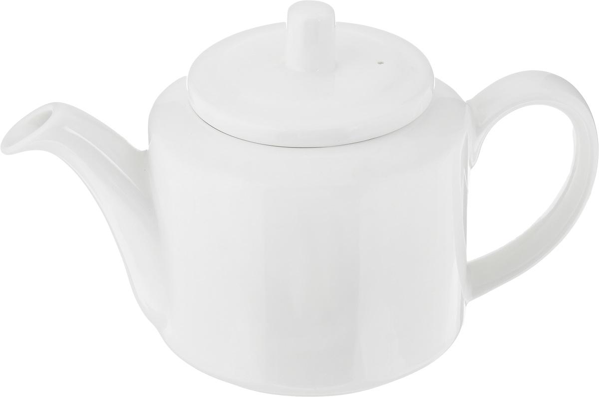 Чайник заварочный Ariane Прайм, 800 мл115510Заварочный чайник Ariane Прайм изготовлен из высококачественного фарфора. Глазурованное покрытие обеспечивает легкую очистку. Изделие прекрасно подходит для заваривания вкусного и ароматного чая, а также травяных настоев. Оригинальный дизайн сделает чайник настоящим украшением стола. Он удобен в использовании и понравится каждому.Можно мыть в посудомоечной машине и использовать в микроволновой печи. Диаметр чайника (по верхнему краю): 9,5 см. Высота чайника (без учета крышки): 11 см. Высота чайника (с учетом крышки): 14 см.