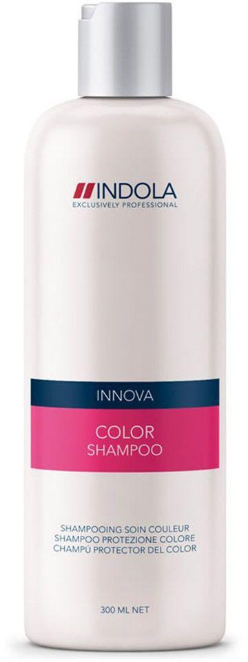 Indola Шампунь для окрашенных волос Color Shampoo 300 мл1504765Indola Шампунь для окрашенных волос. Очищает волосы и сохраняет яркость цвета. Обогащен минеральным экстрактом, УФ-фильтром и гидролизованным кератином. Защищает волосы от потери цвета. Подходит для ежедневного применения. Рекомендуется использовать в комплексе с кондиционером или двухфазным кондиционером Indola Color.