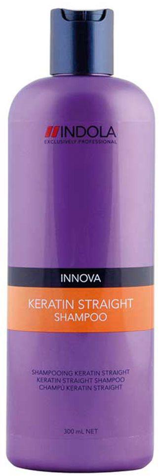 Indola Шампунь Кератиновое выпрямление Keratin Straight Shampoo 300 млFS-54114Indola Шампунь Кератиновое выпрямление. Содержащая кератин-полимер комплекс формула покрывает волосы защитным слоем, который выпрямляет и защищает волосы от завитков на 48 часов. Обеспечивает гладкость, блеск и здоровый вид. Для всех типов волос. Рекомендуется использовать в комплексе с продуктами ухода линии Indola Keratin Straight.