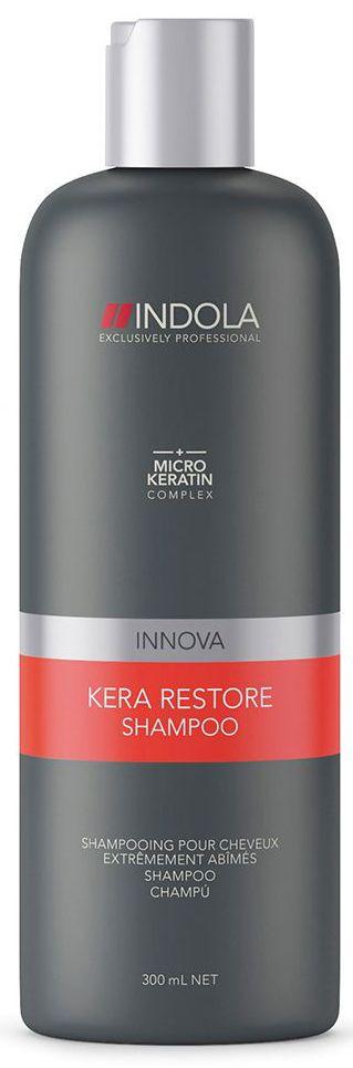 Indola Шампунь Кератиновое Восстановление Kera Restore Shampoo 300 мл1854735Indola Шампунь Кератиновое Восстановление. Мягко очищает и восстанавливает сильно поврежденные волосы после химического или физического воздействия. Благодаря формуле с кератином придает упругость и силу волосам. Для сильно поврежденных волос. Рекомендуется использовать в комплексе с маской и серумом Indola Kera Restore.