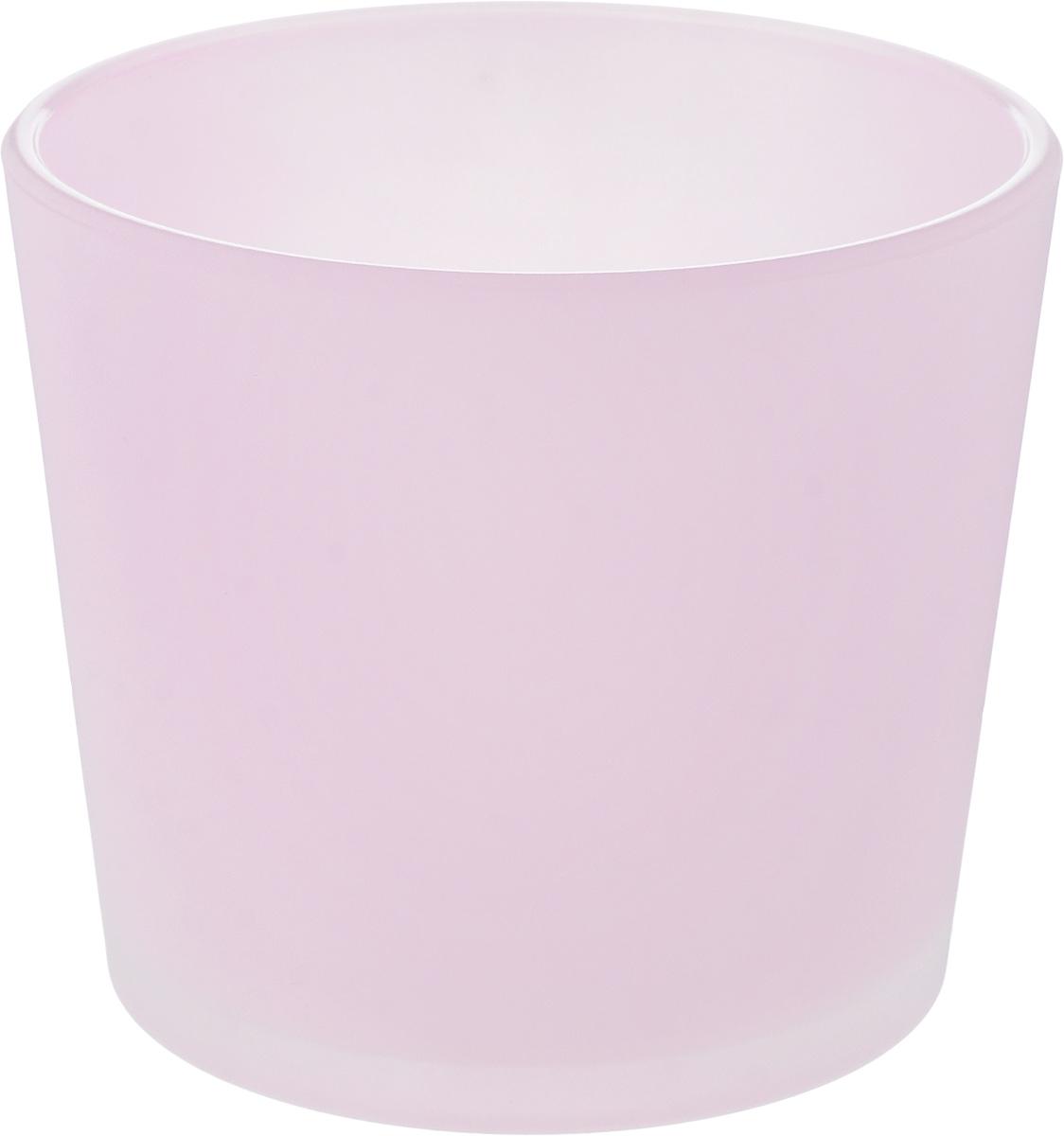 Кашпо NiNaGlass, цвет: розовый, высота 12,5 смМ 3102Кашпо NiNaGlass имеет уникальную форму, сочетающуюся как с классическим, так и с современным дизайном интерьера. Оно изготовлено из высококачественного стекла и предназначено для выращивания растений, цветов и трав в домашних условиях. Кашпо NiNaGlass порадует вас функциональностью, а благодаря лаконичному дизайну впишется в любой интерьер помещения. Диаметр кашпо (по верхнему краю): 14,5 см.Высота кашпо: 12,5 см.
