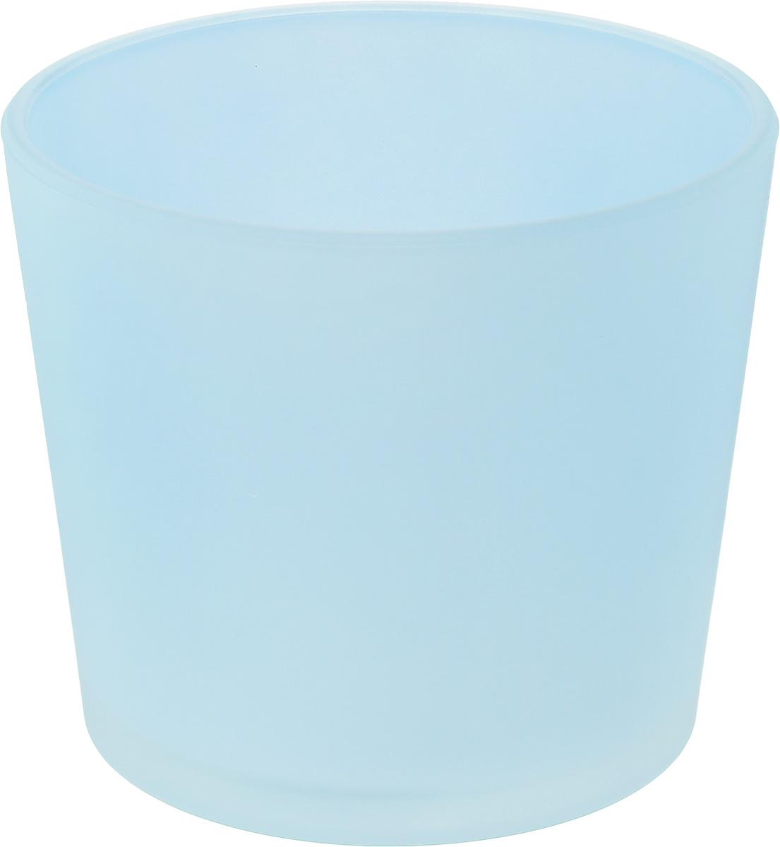 Кашпо NiNaGlass, цвет: голубой, высота 12,5 см531-121Кашпо NiNaGlass имеет уникальную форму, сочетающуюся как с классическим, так и с современным дизайном интерьера. Оно изготовлено из высококачественного стекла и предназначено для выращивания растений, цветов и трав в домашних условиях. Кашпо NiNaGlass порадует вас функциональностью, а благодаря лаконичному дизайну впишется в любой интерьер помещения. Диаметр кашпо (по верхнему краю): 14,5 см.Высота кашпо: 12,5 см.
