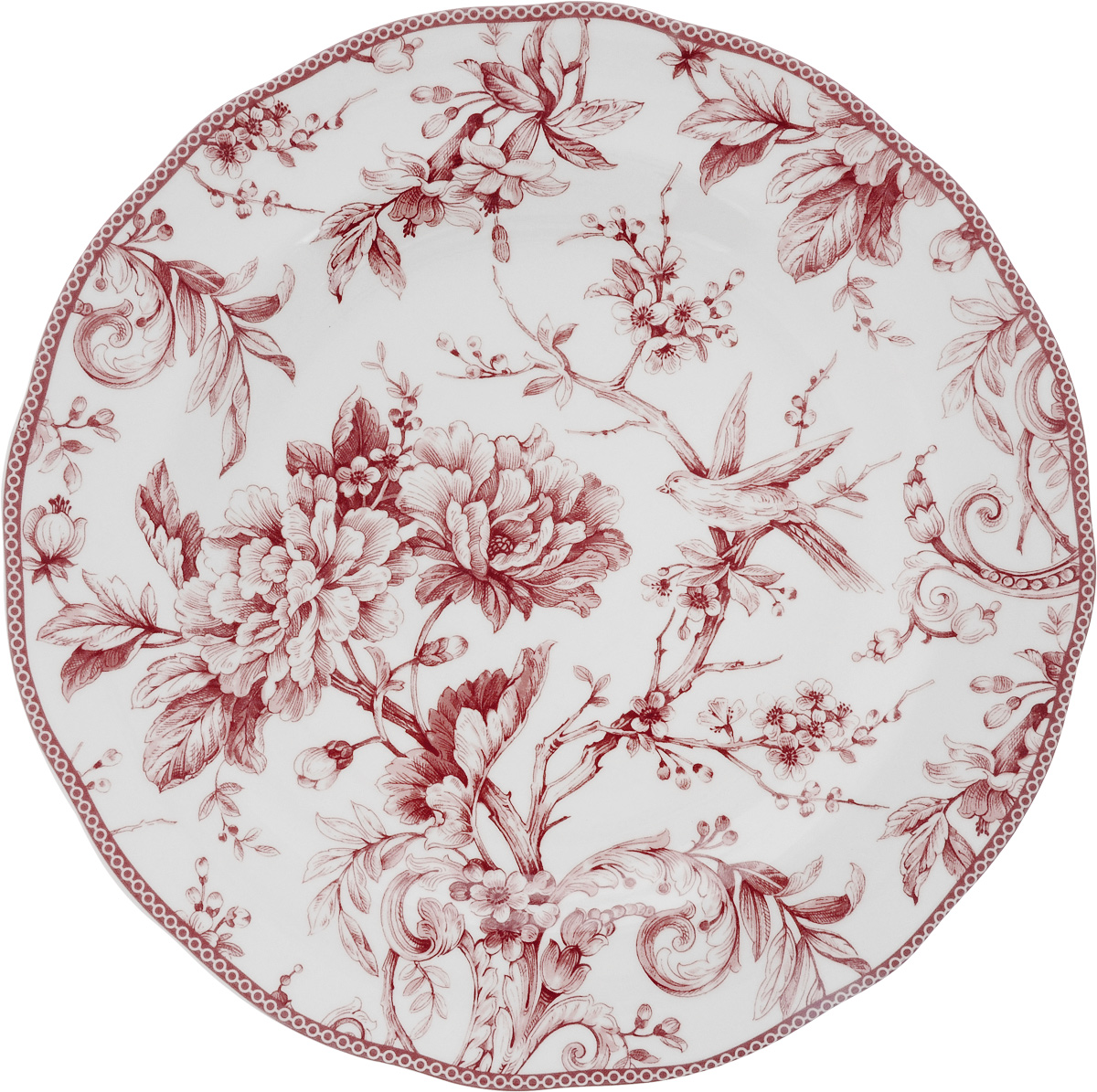 Блюдо Sango Ceramics Аделаида Бордо, диаметр 33 см1923457Круглое блюдо Sango Ceramics Аделаида Бордо, изготовленное из керамики, прекрасно подойдет для подачи нарезок, закусок и других блюд. Изделие, оформленное оригинальным рисунком, украсит сервировку вашего стола и подчеркнет прекрасный вкус хозяйки.Можно мыть в посудомоечной машине и использовать в микроволновой печи.Диаметр блюда (по верхнему краю): 33 см.Высота блюда: 4 см.