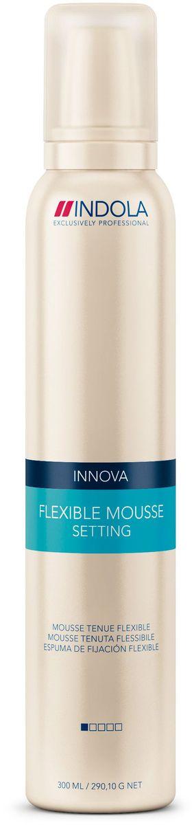 Indola Мусс для волос мягкой фиксации Setting Flexible Mousse 300 мл80285305Indola Мусс для волос мягкой фиксации. Содержит фильмформеры и пантенол, которые скрепляют волосы невидимым покрытием и помогают сохранить форму, не делая волосы жесткими. Обеспечивает эластичную фиксацию и объем не перегружая волосы. Подходит для любых типов волос.