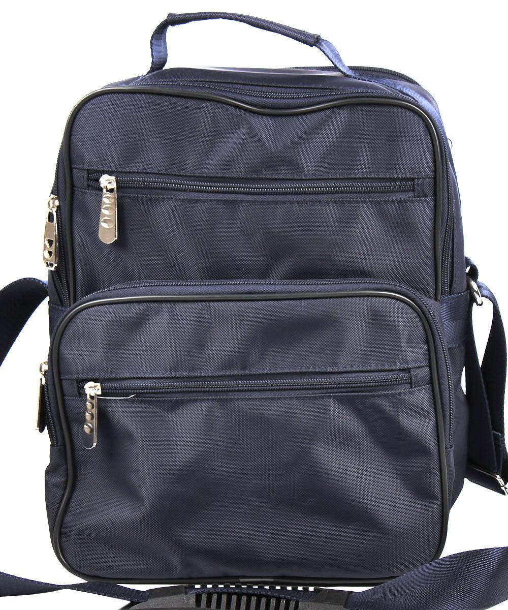 Сумка мужская Медведково, цвет: темно-синий. 16с3417-к143-47670-00504Мужская сумка от Медведково выполнена из текстиля с покрытием из ПВХ.Модель с двумя отделениями, закрывается на застежку-молнию. Внутри у изделия имеются карманы. На лицевой стороне расположен один объемный карман на молнии и два прорезных кармана на молнии. Сумка оснащена удобной ручкой.
