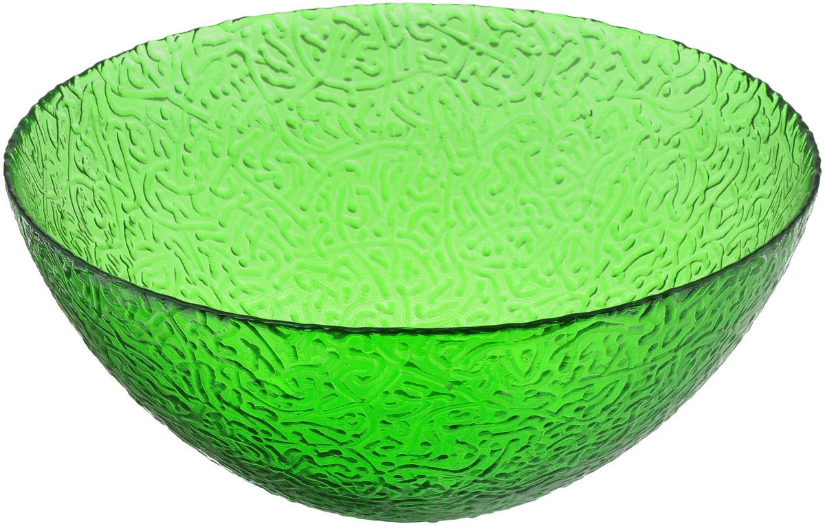Салатник NiNaGlass Ажур, цвет: зеленый, диаметр 25 см54 009312Салатник NiNaGlass Ажур выполнен из высококачественного стекла и декорирован рельефным узором. Идеален для сервировки салатов, овощей и фруктов, ягод, вторых блюд, гарниров и многого другого. Он отлично подойдет как для повседневных, так и для торжественных случаев.Такой салатник прекрасно впишется в интерьер вашей кухни и станет достойным дополнением к кухонному инвентарю.Диаметр салатника (по верхнему краю): 25 см.Высота стенки: 10,5 см.