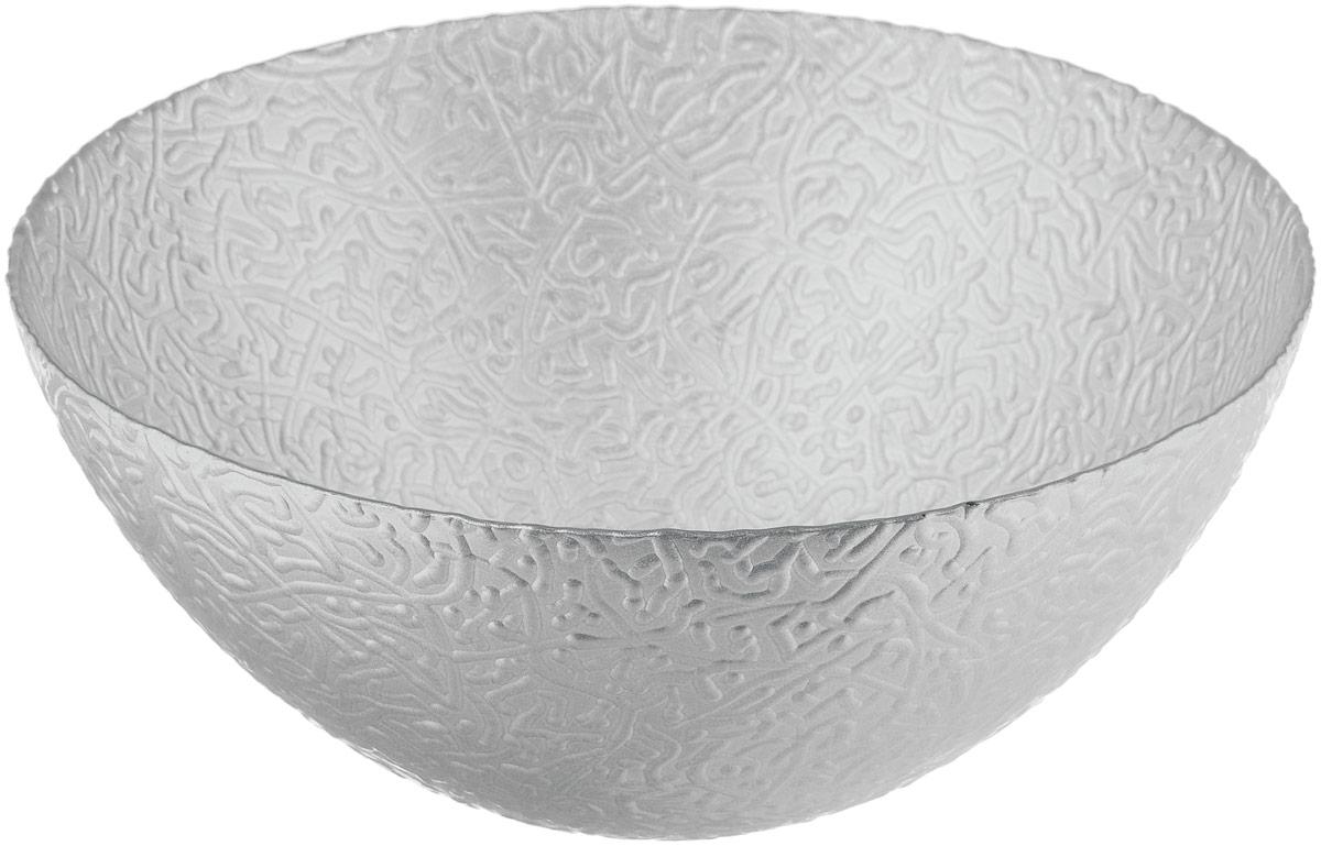 Салатник NiNaGlass Ажур, цвет: серебристый металлик, диаметр 25 см115510Салатник NiNaGlass Ажур выполнен из высококачественного стекла и декорирован рельефным узором. Идеален для сервировки салатов, овощей и фруктов, ягод, вторых блюд, гарниров и многого другого. Он отлично подойдет как для повседневных, так и для торжественных случаев.Такой салатник прекрасно впишется в интерьер вашей кухни и станет достойным дополнением к кухонному инвентарю.Диаметр салатника (по верхнему краю): 25 см.Высота стенки: 10,5 см.