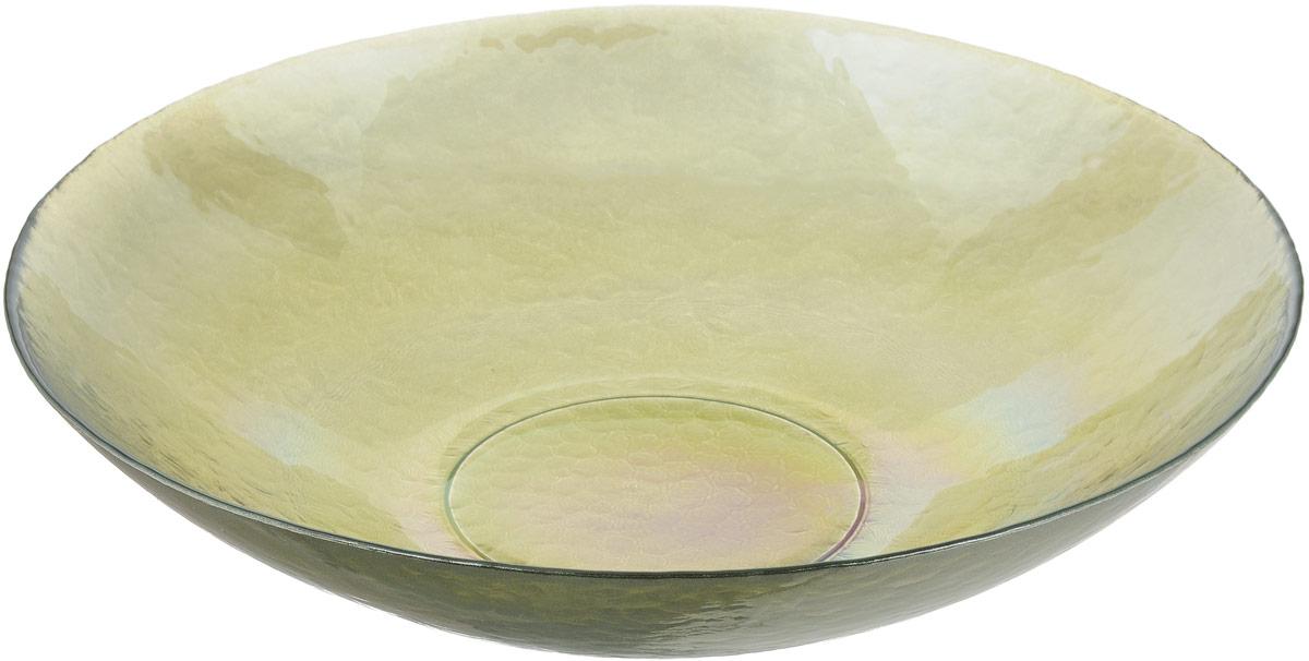 Салатник NiNaGlass Богемия, цвет: оливковый, диаметр 38 смVT-1520(SR)Салатник NiNaGlass Богемия выполнен из высококачественного стекла. Идеален для сервировки большого количества салатов, овощей и фруктов, ягод, вторых блюд, гарниров и многого другого. Он отлично подойдет как для повседневных, так и для торжественных случаев.Такой салатник прекрасно впишется в интерьер вашей кухни и станет достойным дополнением к кухонному инвентарю.Диаметр салатника (по верхнему краю): 38 см.Высота стенки: 9 см.