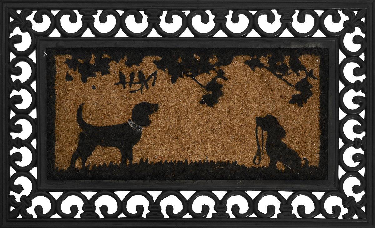 Коврик для домашних животных Happy House, 75 х 45 х 2 смЛ-13/3_синий, розовыйКоврик для собак Happy House выполнен из прочной резины и вставкой из кокосового волокна в центре. Благодаря нему пол остается чистым и сухим. Также ваш питомец сможет отдыхать на данном коврике.