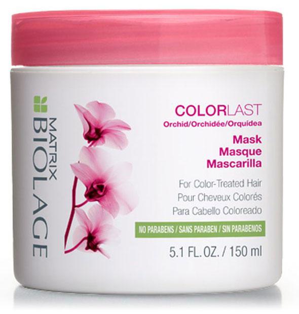 Matrix Biolage Colorlast Маска 150 млFS-00897Для сохранения яркого цвета окрашенным волосам нужно интенсивное увлажнение. МаскаBiolage COLORLAST™ (КолорЛаст) помогает сохранить глубину и яркость оттенка окрашенных волос, придавая им здоровый, сияющий вид. Волосы сохраняют насыщенный цвет до 9 недель* после окрашивания. Формула без парабенов.- Питает, обволакивая каждый волос на 360°- Придаёт волосам блеск и шелковистость- Формула без парабенов и силиконов создана специально для окрашенных волос.*При использовании системы из Колорласт шампуня и кондиционера по сравнению с шампунем без кондиционирующих свойств.