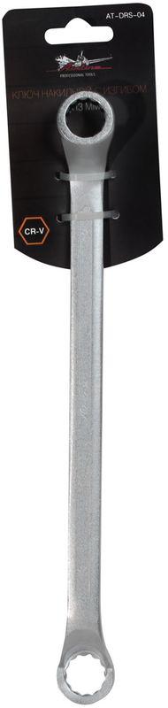 Ключ гаечный накидной Airline, с изгибом, 12 х 13 ммCA-3505Ключ гаечный накидной Airline изготовлен из высококачественной хром-ванадиевой стали. Тело ключа изготовлено методом горячей ковки, что придает ему высокую прочность и долговечность. Финишное прочное хромированное покрытие защищает ключ от воздействия коррозии, делает его более износостойким и легко очищается от загрязнений. Продуманный профиль накидной части ключа смещает пятно контакта с ребра грани на ее поверхность, что предотвращает повреждение болтов и гаек даже при самых высоких нагрузках. Эргономичный профиль рукоятки ключа позволяет развивать большее усилие без риска повреждения кистей рук. Встроенный прочный трещоточный механизм значительно повышает производительность труда и снижает нагрузки на организм.