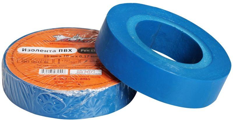 Изолента Airline, цвет: синий, 15 мм х 10 мBG1110Изоляционная лента Airline выполнена из ПВХ и представляет собой расходный материал, предназначенный для обмотки проводов и кабелей с целью их электроизоляции.Изолента изготавливается из поливинилхлоридной пленки с нанесенным на нее клеевым слоем и полностью соответствует ГОСТу. Также изолента имеет высокую силу адгезииНапряжение пробоя: 5000V. Длина ленты: 10 м. Ширина ленты: 15 мм.