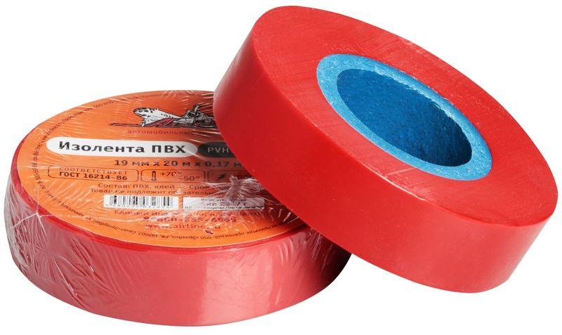 Изолента Airline, цвет: красный, 19 мм х 20 м80621Изоляционная лента ПВХ, которая представлена в широком ассортименте, различается по цветам, ширине ленты и длине намотки. Изолента представляет собой расходный материал, предназначенный для обмотки проводов и кабелей с целью их электроизоляции. Изолента AIRLINE изготавливается из поливинилхлоридной пленки с нанесенным на нее клеевым слоем и полностью соответствует ГОСТу-16214-86. Преимущества: - соответствует ГОСТу; - высший сорт; - высокая сила адгезии Длина ленты (м) - 20Напряжение пробоя - 5000VШирина ленты (мм) - 19