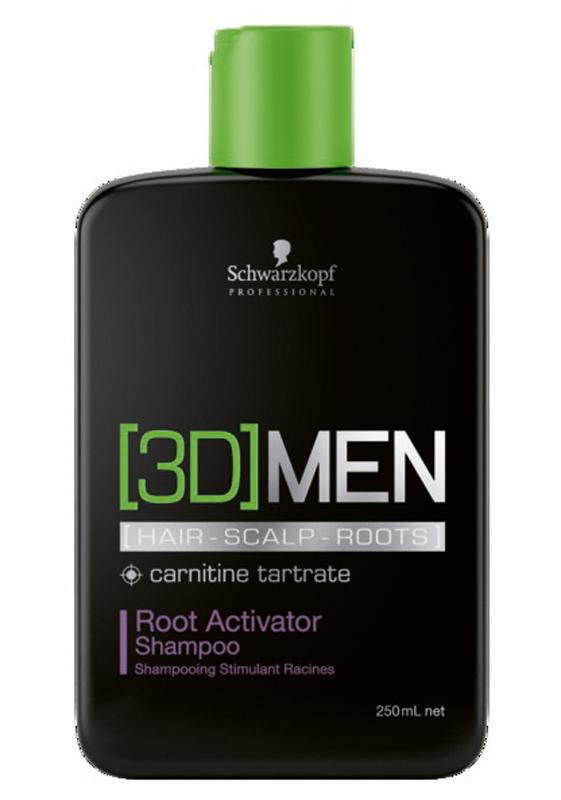 [3D]Men Шампунь активатор роста волос – очищение Root Activator Shampoo 250 млFS-00897Шампунь Активатор роста волос. Для мужчин. Стимулирует волосянные луковицы и помогает волосам восстановить плотность, а также сокращает потерю волос. Пантенол , таурин и карнитин - это три ключевых компонента, которые воздействуют одновременно на волосы, кожу головы и корни волос, влияя на факторы роста волос и доставляя питательные вещества в волосяные фолликулы. Для достижения максимального результата рекомендуется использовать в комплексе с сывороткой активатором роста волос [3D]MEN Root Activator.