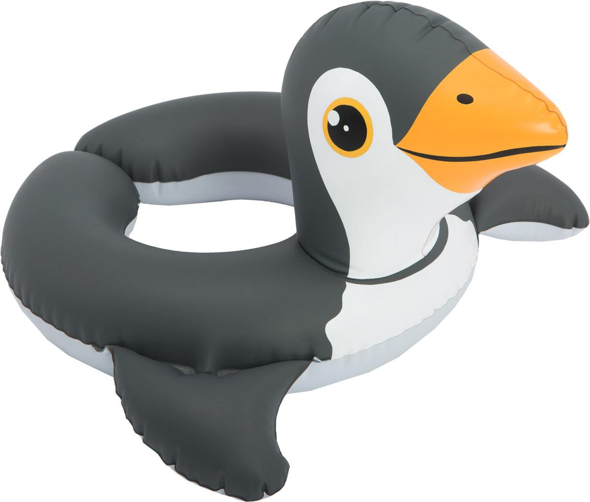 Intex Надувной круг Пингвин 64 см х 64см надувной плот intex пингвин с держателями 114 х 94 см с58151