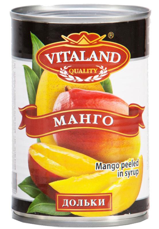 Vitaland манго дольки, 425 мл