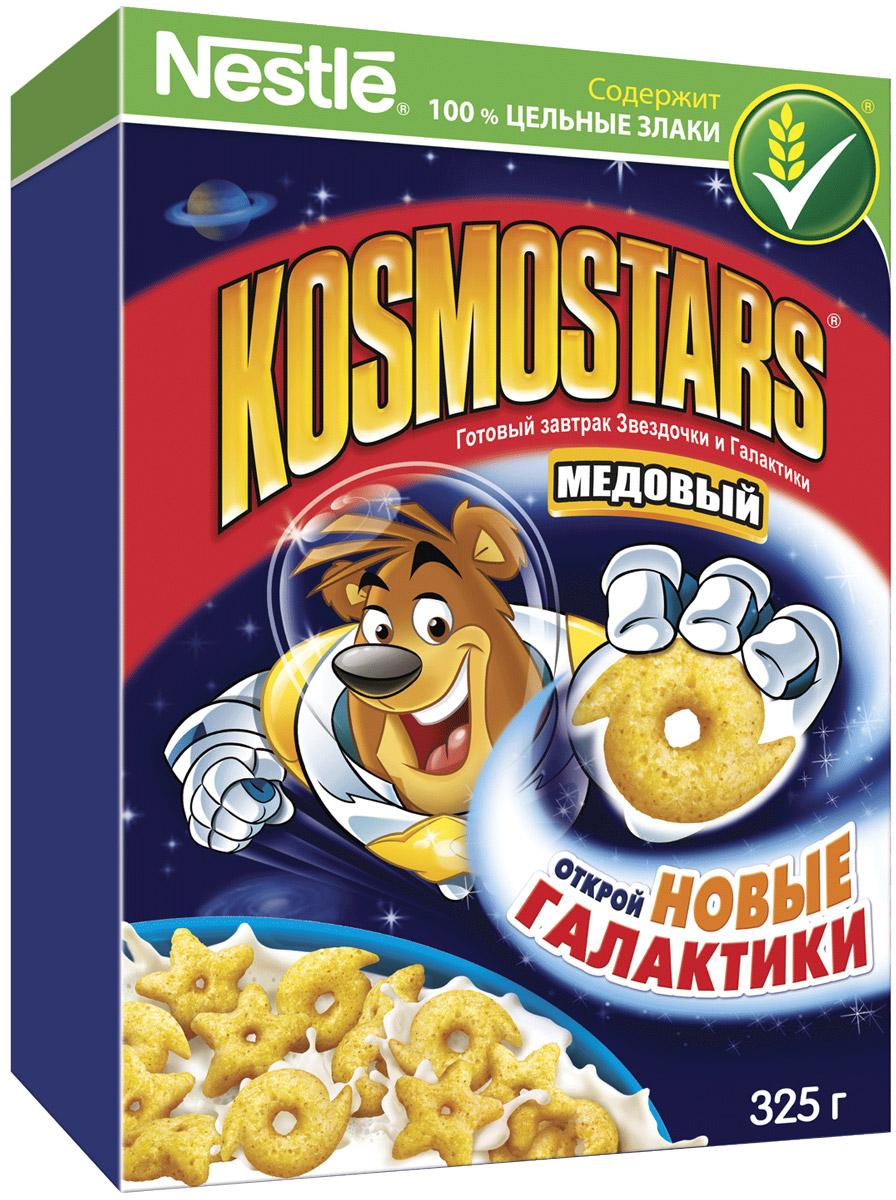 Nestle Kosmostars Медовые звездочки и галактики готовый завтрак, 325 г12156117Готовый завтрак Nestle Kosmostars Медовые звездочки и галактики - полезный, быстрый и вкусный способ получить заряд позитива и энергии на все утро как для юных космонавтов, так и для их родителей. Готовый завтрак содержит цельные злаки, натуральный мед, витамины и минеральные вещества. Цельные злаки играют важную роль в рационе питания детей, они содержат полезные для здоровья вещества: сложные углеводы, витамины, минеральные вещества и клетчатку (пищевые волокна). Рекомендуется употреблять с молоком, кефиром, йогуртом или соком.Уважаемые клиенты! Обращаем ваше внимание, что полный перечень состава продукта представлен на дополнительном изображении.