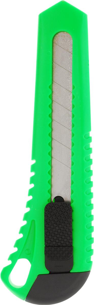 Brauberg Нож канцелярский Универсальный цвет зеленый 18 ммAC-1121RDУниверсальный канцелярский нож Brauberg - это фирменная продукция от известного немецкого бренда, которая предназначена для резки бумаги, картона, различных пленок и мягкого пластика. Нож оснащен резиновыми вставками и автофиксацией лезвия системы AUTO-LOCK. Удобная, эргономичная ручка ножа делает его использование максимально безопасным. Многосекционное лезвие изготовлено из высококачественной стали.Канцелярский нож подходит для дома, офиса, дачи, а также для работы и творчества.