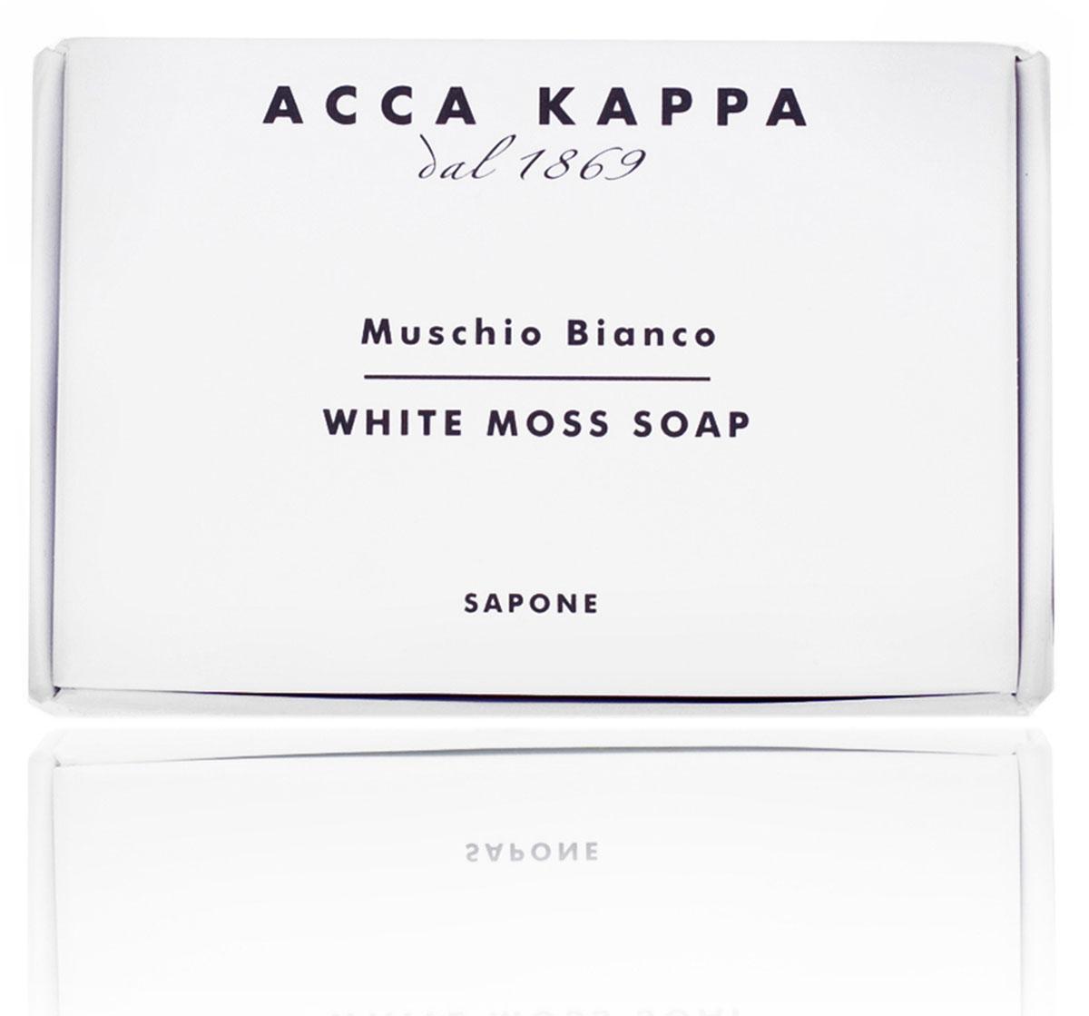 Acca Kappa Мыло туалетное Белый Мускус 100 гр26102025Мыло создано с использованием традиционных методов из сырья исключительно растительного происхождения.