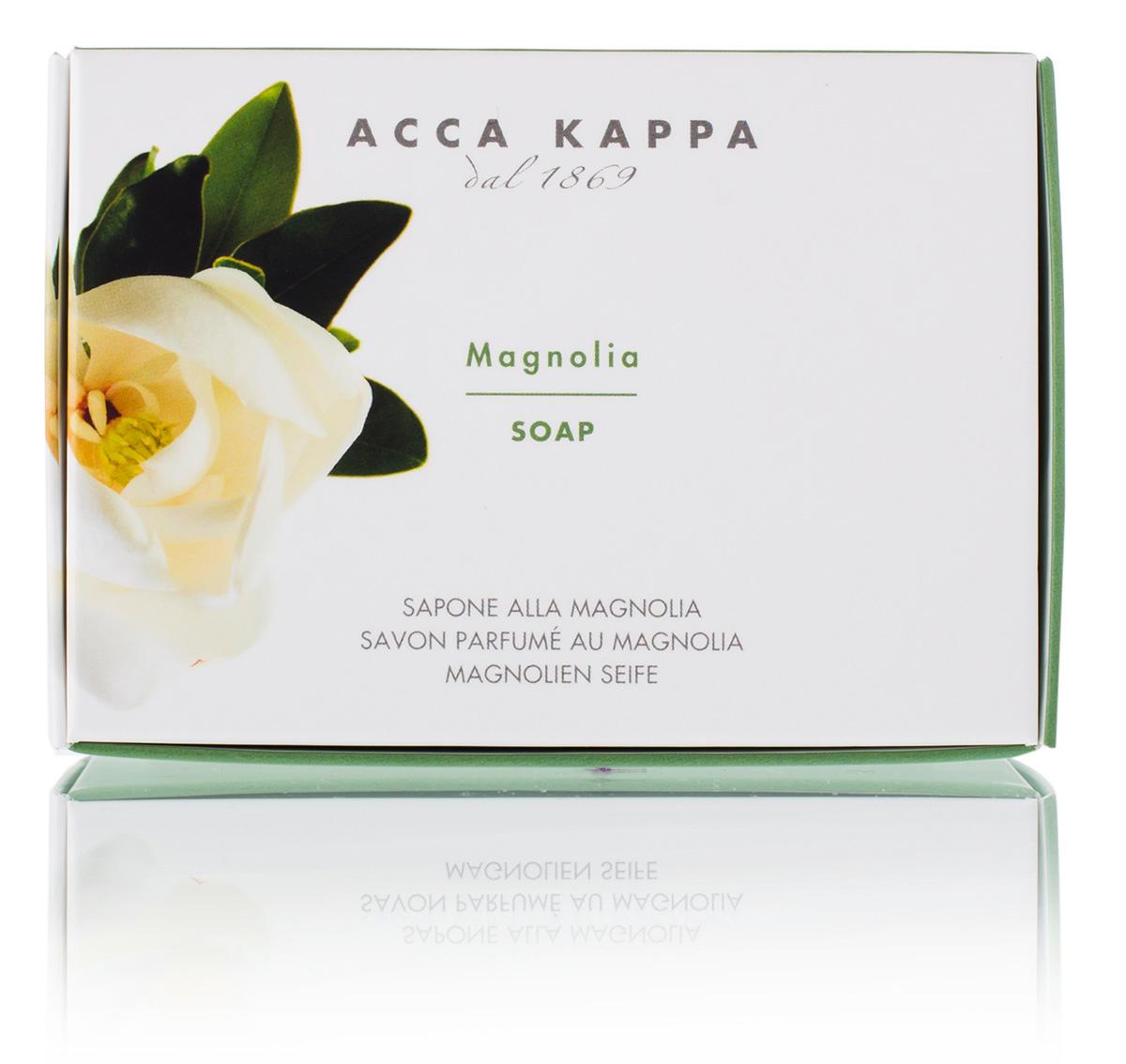 Acca Kappa Мыло туалетное Магнолия 150 гр0507012691Мыло создано с использованием традиционных методов из сырья исключительно растительного происхождения.