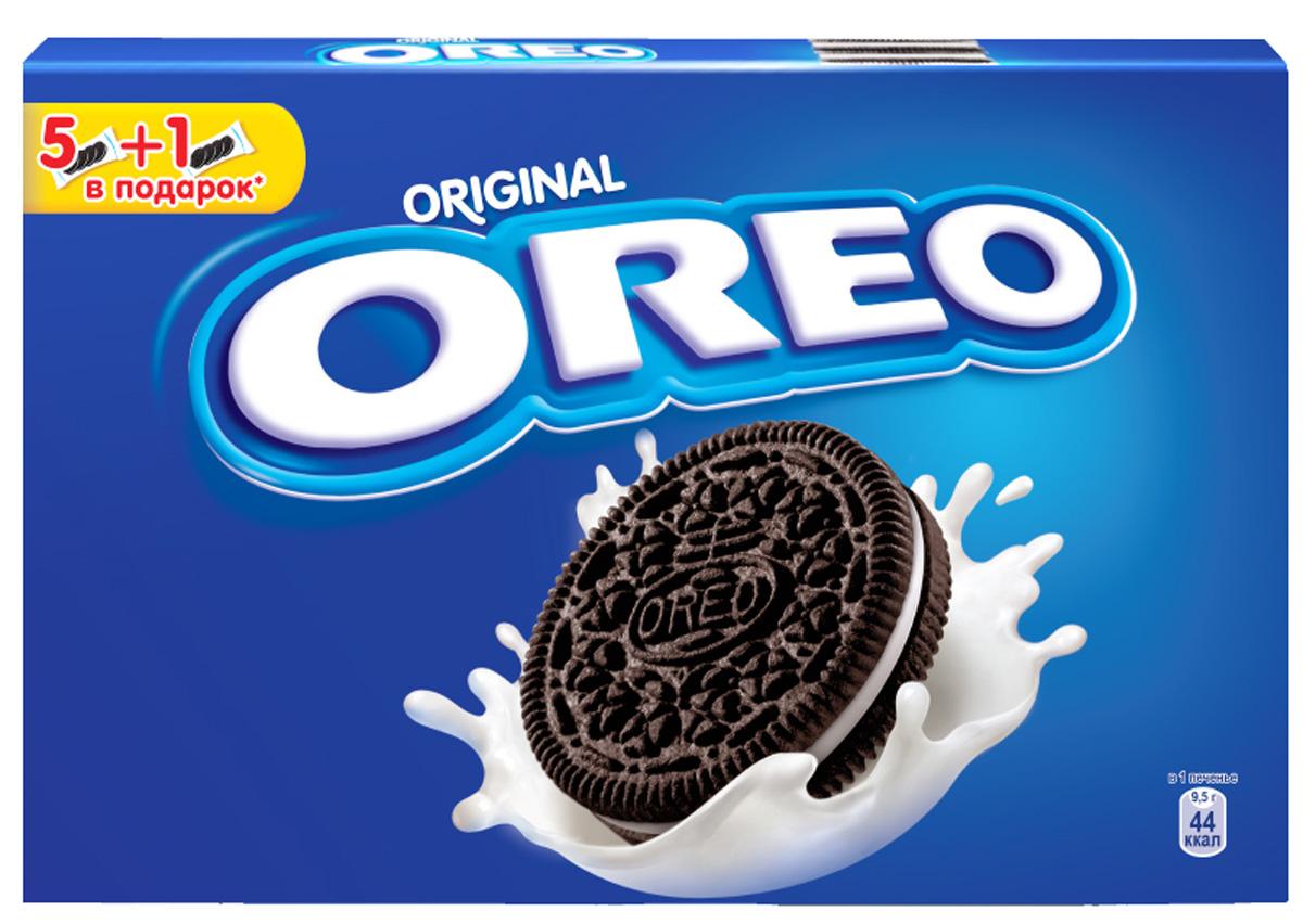 Oreo печенье, 228 г5060295130016Печенье Oreo любит весь мир! Взрослым и детям нравится забавный способ, которым едят Орео. Покрути, лизни, обмакни - Орео. Попробуйте, это весело и очень легко. Печенье с какао и начинкой с ванильным вкусом безусловно порадует и детей, и взрослых!