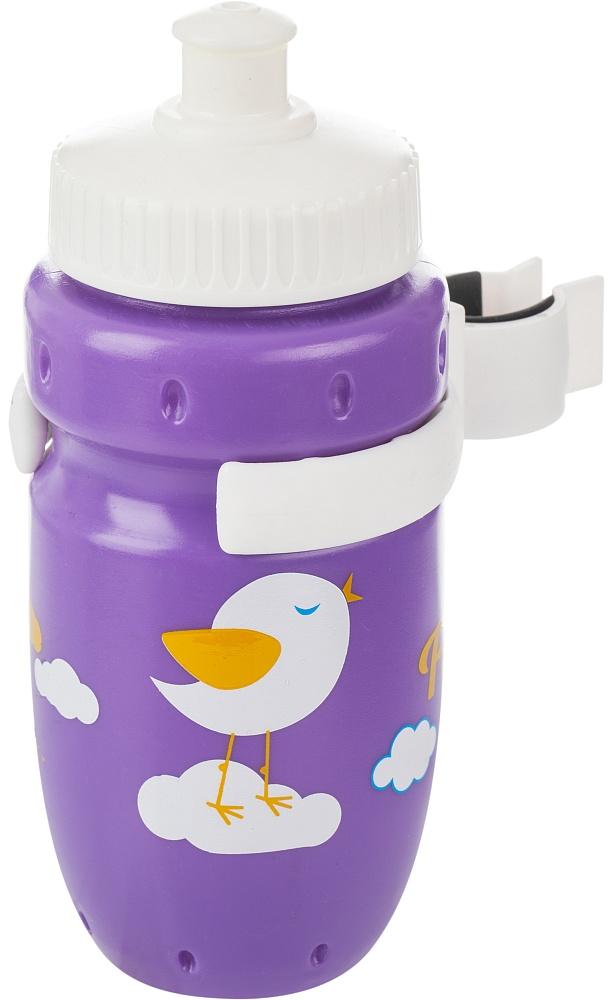 Фляга велосипедная Cyclotech, цвет: фиолетовый, 350 мл7292Детская питьевая фляга с держателем. Крепится на руль. Выполнена из пищевого пластика. Объем 350 мл.