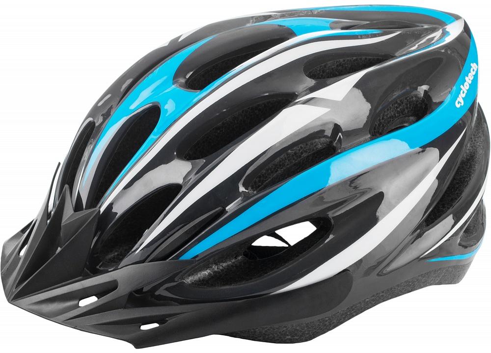 Шлем велосипедный Cyclotech, цвет: черный, синий. Размер MZ90 blackМужской велосипедный шлем продвинутого уровня. Изготовлен по современной технологии Inmold. За счет применения данной технологии шлем становится значительно более устойчивым к боковым и фронтальным ударам, как тупыми, так и острыми предметами (камни, скальные породы и пр.). Улучшенная система вентиляции. Шлем соответствует международным стандартам безопасности и надежности.54-58 смКонструкция In-mouldРегулировка размера ДаТип регулировки размера Поворотное кольцоМатериал внешней раковины ПластикМатериал внутренней раковины Вспененный пенополистиролМатериал подкладки НейлонСертификация EN 1078Производитель CyclotechАртикул производителя CHLI-16M-MСрок гарантии 6 месяцевСтрана производства Китай