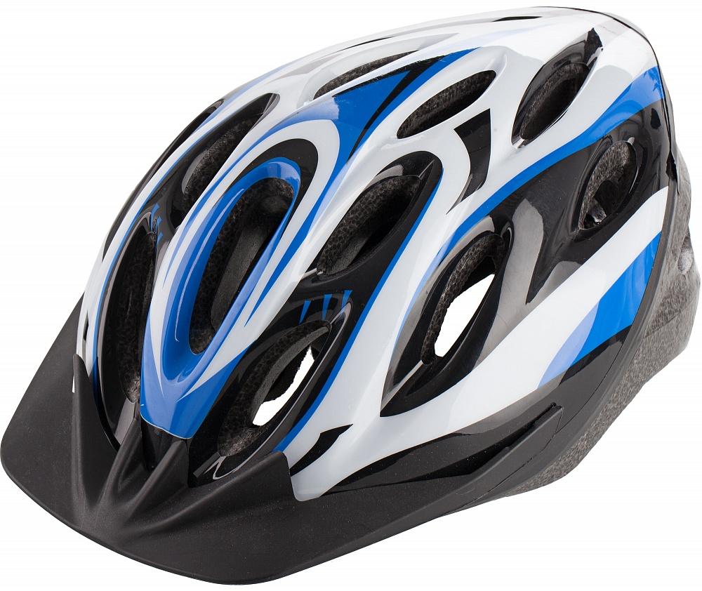 Шлем велосипедный Cyclotech, цвет: черный, синий. Размер MWRA523700Мужской велосипедный шлем. Изготовлен по технологии OutMold, которая обеспечивает хорошее сочетание цены и качества. Увеличенное количество вентиляционных отверстий гарантирует отличную циркуляцию воздуха на разных скоростях движения при сохранении жесткости. Шлем соответствует международным стандартам безопасности и надежности.