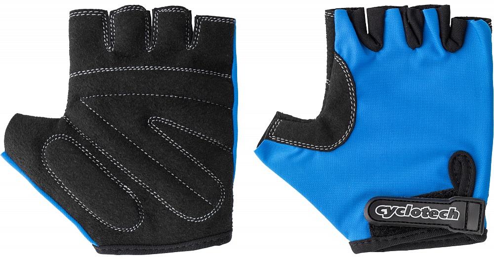 Велоперчатки Cyclotech Wind Kids Bike, цвет: черный, синий. Размер XXSZ90 blackДетские велосипедные перчатки не дают руке скользить на руле и гасят неприятные вибрации.