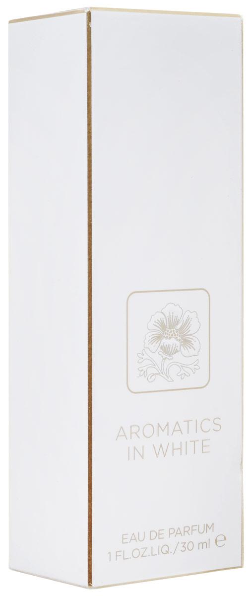 Clinique Aromatics in White Парфюмерная вода женская 30 мл1301028Clinique Aromatics in White, созданный специально для женщины, которая хочет найти свой индивидуальный аромат, который позволит ей выделиться. Clinique Aromatics in White открывается смелой, бодрящей волной свежих фиалковых листьев в сочетании с амбровым аккордом ладанника и сычуаньского перца, которые мгновенно вовлекают вас в сердце аромата.Средние ноты аромата сосредоточены вокруг прозрачных розовых лепестков в сочетании с сочным цветком апельсина и насыщенным аккордом пачули, что создает гармоничное сочетание цветов, запахов и текстур. Базовые ноты передают загадочный, соблазнительный слой этого аромата с помощью серой амбры и кожного мускуса, а также обладающего притягательной силой бензоина. Эта комбинация создает чувственный, пьянящий шлейф с несомненным магнетизмом для женщины, которая предпочитает классический, но в то же время индивидуальный аромат.