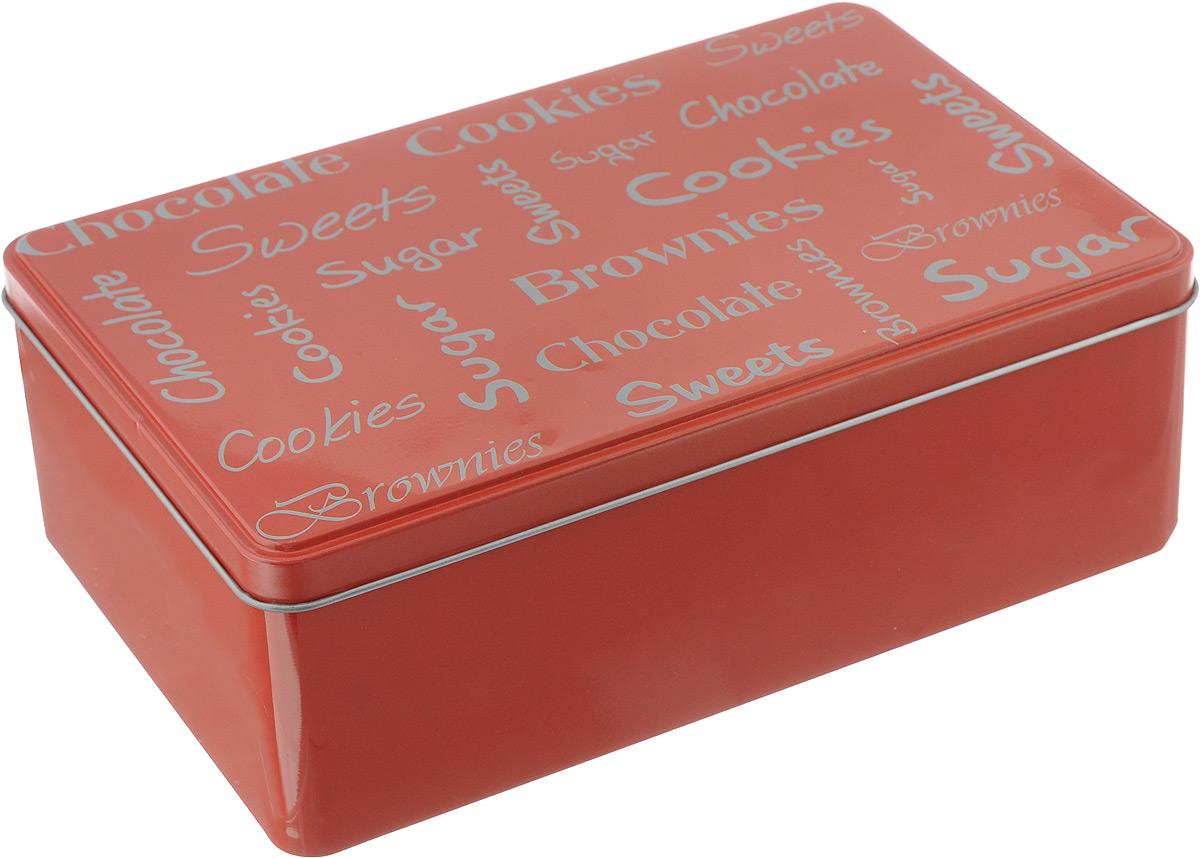 Коробка для чайных пакетиков Kesper, цвет: красный, 20 х 13 х 7 смVT-1520(SR)Коробка для хранения Kesper изготовлена из металла, крышка изделия декорирована надписями. Такая коробка подойдет для хранения чайных пакетиков и любых других бытовых мелочей. Она надежно защитит содержимое от пыли, влаги, грязи и насекомых. Удобная коробка для хранения станет прекрасным приобретением для кухни.