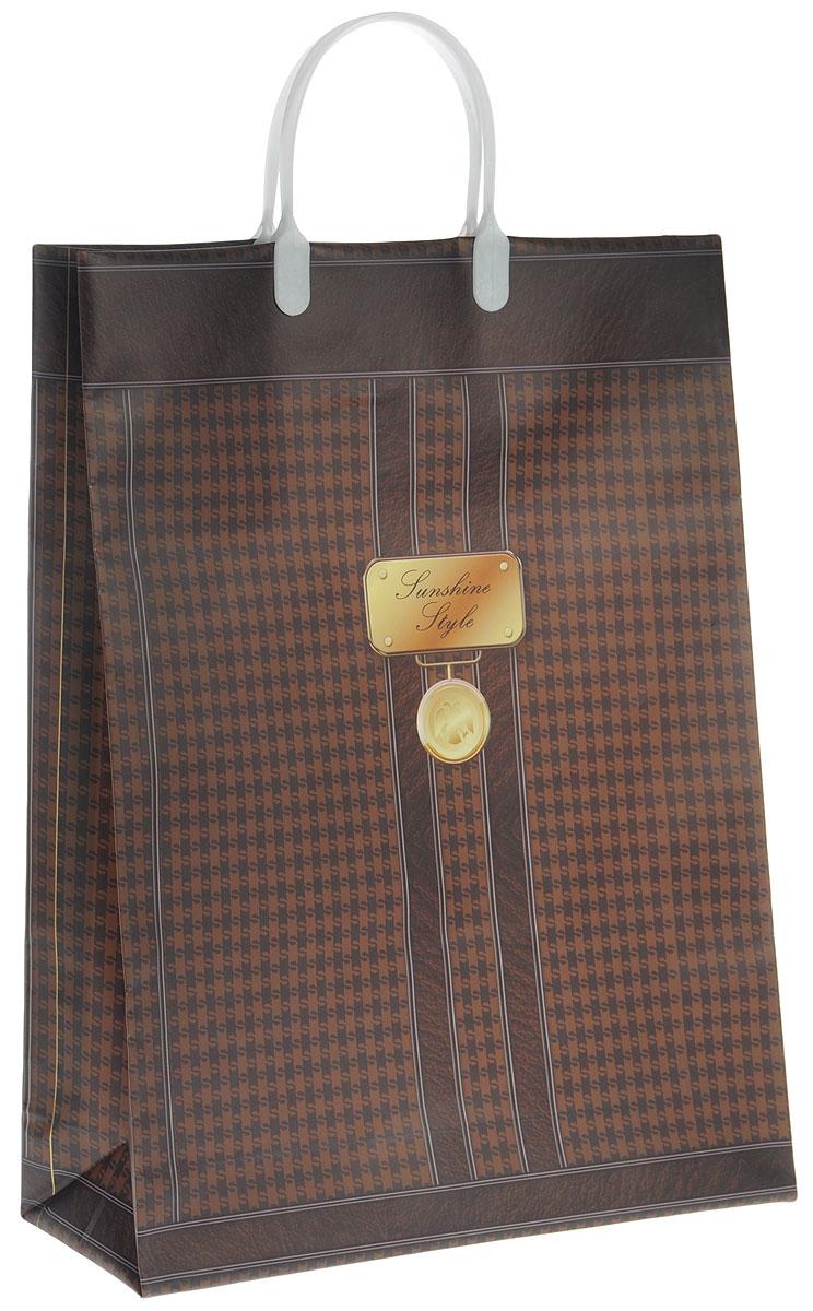 Пакет подарочный Bello, цвет: темно-коричневый, коричневый, белый, 32 х 10 х 42 см. BAL 10143683Подарочный пакет Bello, изготовленный из пищевого полипропилена, станет незаменимым дополнением к выбранному подарку. Дно изделия укреплено плотным картоном, который позволяет сохранить форму пакета и исключает возможность деформации дна под тяжестью подарка. Для удобной переноски на пакете имеются две пластиковые ручки.Подарок, преподнесенный в оригинальной упаковке, всегда будет самым эффектным и запоминающимся. Окружите близких людей вниманием и заботой, вручив презент в нарядном, праздничном оформлении.Грузоподъемность: 12 кг.Морозостойкость: до -30°С.