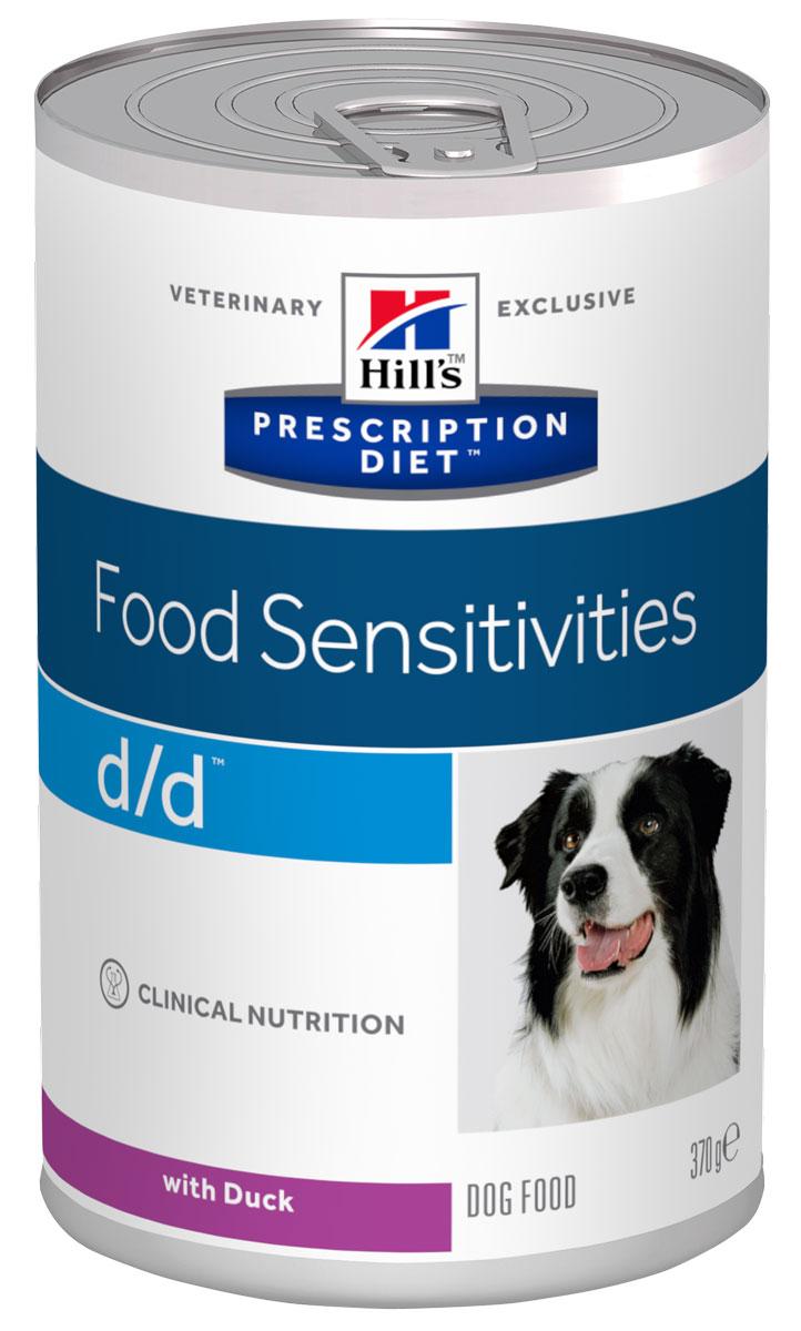 Консервы для собак Hills D/D, диетические, для лечения пищевых аллергий, с уткой, 370 г8003Консервы Hills D/D - полноценный диетический рацион для собак, склонных в пищевым аллергическим реакциям, или с непереносимостью компонентов пищи. Поддерживает здоровье кожи при дерматитах и чрезмерной потери шерсти. Содержит специально подобранные источники протеинов, углеводов и высокий уровень полиненасыщенных жирных кислот.Ключевые преимущества:- Помогает снизить признаки негативной реакции на пищу и поддержать функцию кожи благодаря правильному соотношению натуральных Омега-3 жирных кислот в рационе.- Утка редко используется в кормах для собак, поэтому риск возникновения аллергии на белок снижен. - Помогает нейтрализовать действие свободных радикалов за счет высокого содержания антиоксидантов. Рекомендации по кормлению: рекомендуемая продолжительность диетотерапии при пищевой аллергии и непереносимости компонентов пищи - 3-8 недель, при дерматитах и чрезмерной потери шерсти - до 2 месяцев при исчезновении клинических симптомов рацион подходит для длительного применения. Состав: утка, сухой картофель, печень утки, картофельный крахмал, растительное масло, целлюлоза, дикальция фосфат, рыбий жир, йодированная соль, DL-метионин, кальция карбонат, таурин, калия хлорид, L-триптофан, витамины и микроэлементы. Энергетическая ценность (100 г): 100 г.Среднее содержание нутриентов: бета-каротин 0,37 мг/кг, витамин А 5600 МЕ/кг, витамин С 17 мг/кг, витамин D 480 МЕ/кг, витамин Е 148 мг/кг, влага 75,3%, жиры 4,1%, калий 0,22%, кальций 0,2%, клетчатка 0,5%, магний 0,02%, натрий 0,09%, омега-3 жирные кислоты 0,2%, омега-6 жирные кислоты 0,79%, протеин 4,3%, таурин 0,09%, углеводы 14,5%, фосфор 0,17%.Товар сертифицирован.Уважаемые клиенты! Обращаем ваше внимание на возможные изменения в дизайне упаковки. Качественные характеристики товара остаются неизменными. Поставка осуществляется в зависимости от наличия на складе.
