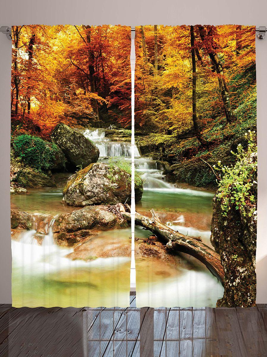 Комплект фотоштор Magic Lady Осенний лес у водопада, на ленте, высота 265 см. шсг_10118шсг_8988Компания Сэмболь изготавливает шторы из высококачественного сатена (полиэстер 100%). При изготовлении используются специальные гипоаллергенные чернила для прямой печати по ткани, безопасные для человека и животных. Экологичность продукции Magic lady и безопасность для окружающей среды подтверждены сертификатом Oeko-Tex Standard 100. Крепление: крючки для крепления на шторной ленте (50 шт). Возможно крепление на трубу. Внимание! При нанесении сублимационной печати на ткань технологическим методом при температуре 240°С, возможно отклонение полученных размеров (указанных на этикетке и сайте) от стандартных на + - 3-5 см. Производитель старается максимально точно передать цвета изделия на фотографиях, однако искажения неизбежны и фактический цвет изделия может отличаться от воспринимаемого по фото. Обратите внимание! Шторы изготовлены из полиэстра сатенового переплетения, а не из сатина (хлопок). Размер одного полотна шторы: 145х265 см. В комплекте 2 полотна шторы и 50 крючков.