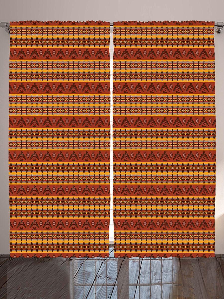 Комплект фотоштор Magic Lady Этнические индейские узоры с орлами, ромбами и полосками, на ленте, высота 265 см. шсг_10196шсг_8988Компания Сэмболь изготавливает шторы из высококачественного сатена (полиэстер 100%). При изготовлении используются специальные гипоаллергенные чернила для прямой печати по ткани, безопасные для человека и животных. Экологичность продукции Magic lady и безопасность для окружающей среды подтверждены сертификатом Oeko-Tex Standard 100. Крепление: крючки для крепления на шторной ленте (50 шт). Возможно крепление на трубу. Внимание! При нанесении сублимационной печати на ткань технологическим методом при температуре 240°С, возможно отклонение полученных размеров (указанных на этикетке и сайте) от стандартных на + - 3-5 см. Производитель старается максимально точно передать цвета изделия на фотографиях, однако искажения неизбежны и фактический цвет изделия может отличаться от воспринимаемого по фото. Обратите внимание! Шторы изготовлены из полиэстра сатенового переплетения, а не из сатина (хлопок). Размер одного полотна шторы: 145х265 см. В комплекте 2 полотна шторы и 50 крючков.