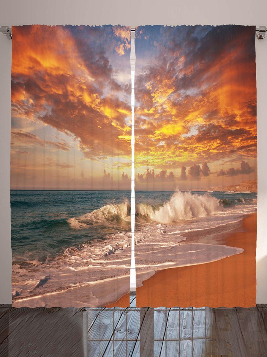 Комплект фотоштор Magic Lady Золотые облака, на ленте, высота 265 см. шсг_10259шсг_2512Компания Сэмболь изготавливает шторы из высококачественного сатена (полиэстер 100%). При изготовлении используются специальные гипоаллергенные чернила для прямой печати по ткани, безопасные для человека и животных. Экологичность продукции Magic lady и безопасность для окружающей среды подтверждены сертификатом Oeko-Tex Standard 100. Крепление: крючки для крепления на шторной ленте (50 шт). Возможно крепление на трубу. Внимание! При нанесении сублимационной печати на ткань технологическим методом при температуре 240°С, возможно отклонение полученных размеров (указанных на этикетке и сайте) от стандартных на + - 3-5 см. Производитель старается максимально точно передать цвета изделия на фотографиях, однако искажения неизбежны и фактический цвет изделия может отличаться от воспринимаемого по фото. Обратите внимание! Шторы изготовлены из полиэстра сатенового переплетения, а не из сатина (хлопок). Размер одного полотна шторы: 145х265 см. В комплекте 2 полотна шторы и 50 крючков.