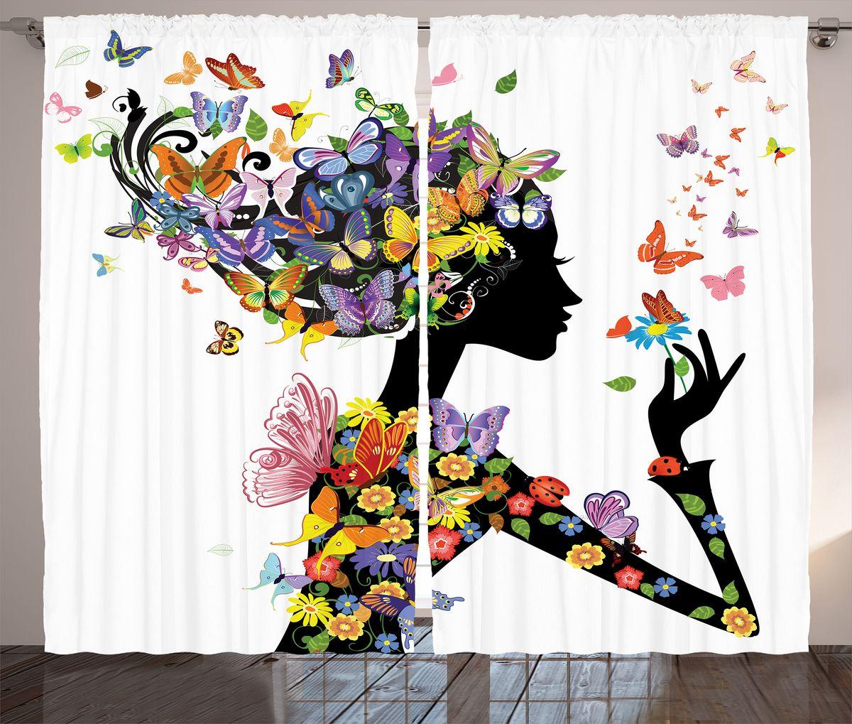 Комплект фотоштор Magic Lady Цветочная фея с бабочками, на ленте, высота 265 см. шсг_1101721255Компания Сэмболь изготавливает шторы из высококачественного сатена (полиэстер 100%). При изготовлении используются специальные гипоаллергенные чернила для прямой печати по ткани, безопасные для человека и животных. Экологичность продукции Magic lady и безопасность для окружающей среды подтверждены сертификатом Oeko-Tex Standard 100. Крепление: крючки для крепления на шторной ленте (50 шт). Возможно крепление на трубу. Внимание! При нанесении сублимационной печати на ткань технологическим методом при температуре 240°С, возможно отклонение полученных размеров (указанных на этикетке и сайте) от стандартных на + - 3-5 см. Производитель старается максимально точно передать цвета изделия на фотографиях, однако искажения неизбежны и фактический цвет изделия может отличаться от воспринимаемого по фото. Обратите внимание! Шторы изготовлены из полиэстра сатенового переплетения, а не из сатина (хлопок). Размер одного полотна шторы: 145х265 см. В комплекте 2 полотна шторы и 50 крючков.