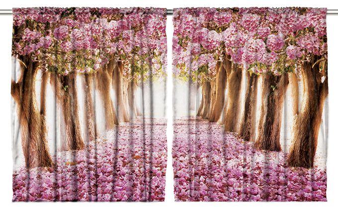 Комплект фотоштор Magic Lady Аллея в розовых цветах, на ленте, высота 265 см. шсг_111221269Компания Сэмболь изготавливает шторы из высококачественного сатена (полиэстер 100%). При изготовлении используются специальные гипоаллергенные чернила для прямой печати по ткани, безопасные для человека и животных. Экологичность продукции Magic lady и безопасность для окружающей среды подтверждены сертификатом Oeko-Tex Standard 100. Крепление: крючки для крепления на шторной ленте (50 шт). Возможно крепление на трубу. Внимание! При нанесении сублимационной печати на ткань технологическим методом при температуре 240°С, возможно отклонение полученных размеров (указанных на этикетке и сайте) от стандартных на + - 3-5 см. Производитель старается максимально точно передать цвета изделия на фотографиях, однако искажения неизбежны и фактический цвет изделия может отличаться от воспринимаемого по фото. Обратите внимание! Шторы изготовлены из полиэстра сатенового переплетения, а не из сатина (хлопок). Размер одного полотна шторы: 145х265 см. В комплекте 2 полотна шторы и 50 крючков.