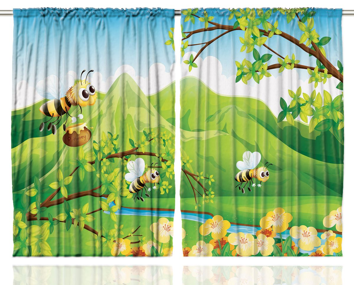 Комплект фотоштор Magic Lady Пчелки собирают мед, на ленте, высота 265 см. шсг_121821276Компания Сэмболь изготавливает шторы из высококачественного сатена (полиэстер 100%). При изготовлении используются специальные гипоаллергенные чернила для прямой печати по ткани, безопасные для человека и животных. Экологичность продукции Magic lady и безопасность для окружающей среды подтверждены сертификатом Oeko-Tex Standard 100. Крепление: крючки для крепления на шторной ленте (50 шт). Возможно крепление на трубу. Внимание! При нанесении сублимационной печати на ткань технологическим методом при температуре 240°С, возможно отклонение полученных размеров (указанных на этикетке и сайте) от стандартных на + - 3-5 см. Производитель старается максимально точно передать цвета изделия на фотографиях, однако искажения неизбежны и фактический цвет изделия может отличаться от воспринимаемого по фото. Обратите внимание! Шторы изготовлены из полиэстра сатенового переплетения, а не из сатина (хлопок). Размер одного полотна шторы: 145х265 см. В комплекте 2 полотна шторы и 50 крючков.