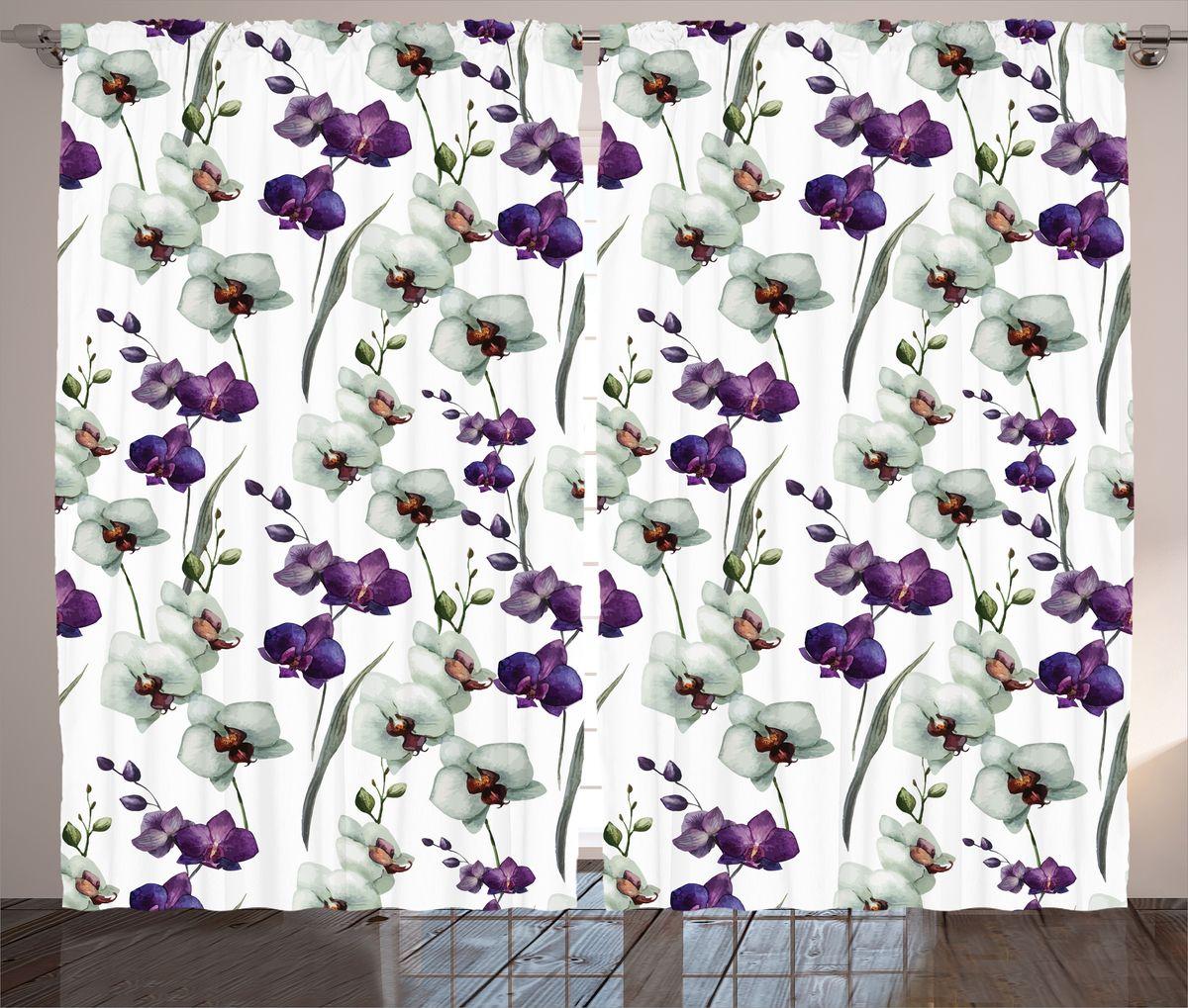 Комплект фотоштор Magic Lady Акварельные орхидеи, на ленте, высота 265 см. шсг_1388721265Компания Сэмболь изготавливает шторы из высококачественного сатена (полиэстер 100%). При изготовлении используются специальные гипоаллергенные чернила для прямой печати по ткани, безопасные для человека и животных. Экологичность продукции Magic lady и безопасность для окружающей среды подтверждены сертификатом Oeko-Tex Standard 100. Крепление: крючки для крепления на шторной ленте (50 шт). Возможно крепление на трубу. Внимание! При нанесении сублимационной печати на ткань технологическим методом при температуре 240°С, возможно отклонение полученных размеров (указанных на этикетке и сайте) от стандартных на + - 3-5 см. Производитель старается максимально точно передать цвета изделия на фотографиях, однако искажения неизбежны и фактический цвет изделия может отличаться от воспринимаемого по фото. Обратите внимание! Шторы изготовлены из полиэстра сатенового переплетения, а не из сатина (хлопок). Размер одного полотна шторы: 145х265 см. В комплекте 2 полотна шторы и 50 крючков.