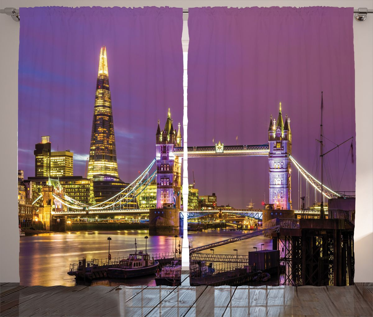 Комплект фотоштор Magic Lady Фиолетовый закат над Лондоном, на ленте, высота 265 см. шсг_14658шсг_2043Компания Сэмболь изготавливает шторы из высококачественного сатена (полиэстер 100%). При изготовлении используются специальные гипоаллергенные чернила для прямой печати по ткани, безопасные для человека и животных. Экологичность продукции Magic lady и безопасность для окружающей среды подтверждены сертификатом Oeko-Tex Standard 100. Крепление: крючки для крепления на шторной ленте (50 шт). Возможно крепление на трубу. Внимание! При нанесении сублимационной печати на ткань технологическим методом при температуре 240°С, возможно отклонение полученных размеров (указанных на этикетке и сайте) от стандартных на + - 3-5 см. Производитель старается максимально точно передать цвета изделия на фотографиях, однако искажения неизбежны и фактический цвет изделия может отличаться от воспринимаемого по фото. Обратите внимание! Шторы изготовлены из полиэстра сатенового переплетения, а не из сатина (хлопок). Размер одного полотна шторы: 145х265 см. В комплекте 2 полотна шторы и 50 крючков.