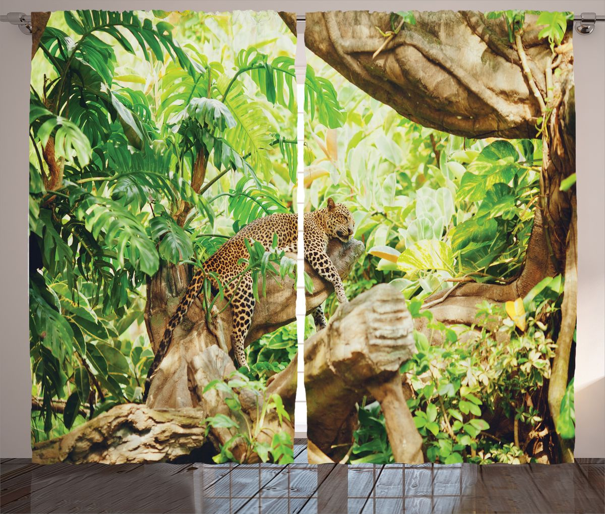 Комплект фотоштор Magic Lady Леопард отдыхает, на ленте, высота 265 см. шсг_1468121071Компания Сэмболь изготавливает шторы из высококачественного сатена (полиэстер 100%). При изготовлении используются специальные гипоаллергенные чернила для прямой печати по ткани, безопасные для человека и животных. Экологичность продукции Magic lady и безопасность для окружающей среды подтверждены сертификатом Oeko-Tex Standard 100. Крепление: крючки для крепления на шторной ленте (50 шт). Возможно крепление на трубу. Внимание! При нанесении сублимационной печати на ткань технологическим методом при температуре 240°С, возможно отклонение полученных размеров (указанных на этикетке и сайте) от стандартных на + - 3-5 см. Производитель старается максимально точно передать цвета изделия на фотографиях, однако искажения неизбежны и фактический цвет изделия может отличаться от воспринимаемого по фото. Обратите внимание! Шторы изготовлены из полиэстра сатенового переплетения, а не из сатина (хлопок). Размер одного полотна шторы: 145х265 см. В комплекте 2 полотна шторы и 50 крючков.
