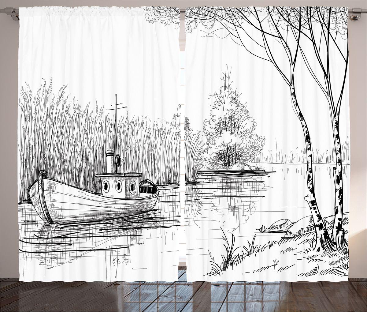 Комплект фотоштор Magic Lady Лодка на тихой реке, на ленте, высота 265 см. шсг_14968шсг_10050Компания Сэмболь изготавливает шторы из высококачественного сатена (полиэстер 100%). При изготовлении используются специальные гипоаллергенные чернила для прямой печати по ткани, безопасные для человека и животных. Экологичность продукции Magic lady и безопасность для окружающей среды подтверждены сертификатом Oeko-Tex Standard 100. Крепление: крючки для крепления на шторной ленте (50 шт). Возможно крепление на трубу. Внимание! При нанесении сублимационной печати на ткань технологическим методом при температуре 240°С, возможно отклонение полученных размеров (указанных на этикетке и сайте) от стандартных на + - 3-5 см. Производитель старается максимально точно передать цвета изделия на фотографиях, однако искажения неизбежны и фактический цвет изделия может отличаться от воспринимаемого по фото. Обратите внимание! Шторы изготовлены из полиэстра сатенового переплетения, а не из сатина (хлопок). Размер одного полотна шторы: 145х265 см. В комплекте 2 полотна шторы и 50 крючков.