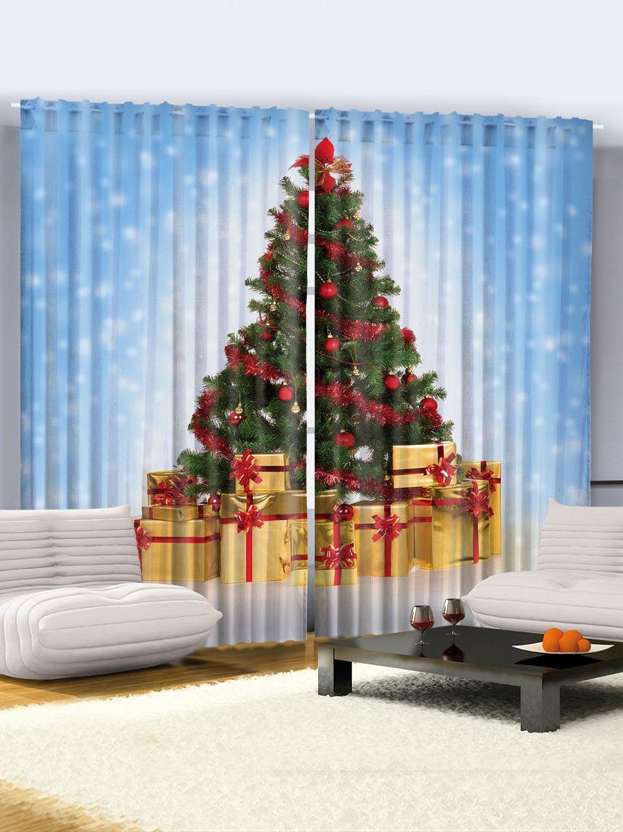 Комплект фотоштор Magic Lady Новогодняя елка, на ленте, высота 265 см. шсг_1550