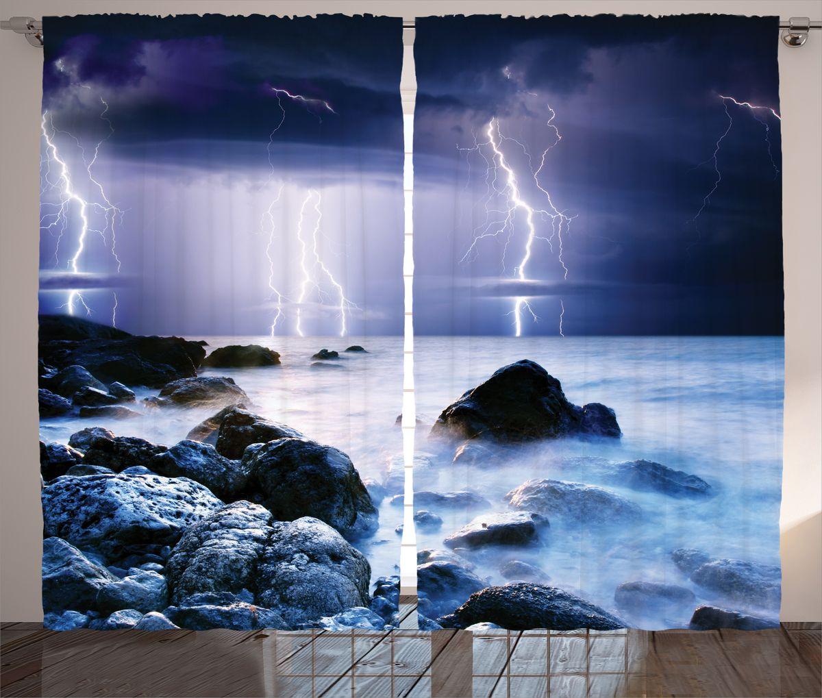 Комплект фотоштор Magic Lady Гроза над туманным берегом, на ленте, высота 265 см. шсг_16335шсг_16275Компания Сэмболь изготавливает шторы из высококачественного сатена (полиэстер 100%). При изготовлении используются специальные гипоаллергенные чернила для прямой печати по ткани, безопасные для человека и животных. Экологичность продукции Magic lady и безопасность для окружающей среды подтверждены сертификатом Oeko-Tex Standard 100. Крепление: крючки для крепления на шторной ленте (50 шт). Возможно крепление на трубу. Внимание! При нанесении сублимационной печати на ткань технологическим методом при температуре 240°С, возможно отклонение полученных размеров (указанных на этикетке и сайте) от стандартных на + - 3-5 см. Производитель старается максимально точно передать цвета изделия на фотографиях, однако искажения неизбежны и фактический цвет изделия может отличаться от воспринимаемого по фото. Обратите внимание! Шторы изготовлены из полиэстра сатенового переплетения, а не из сатина (хлопок). Размер одного полотна шторы: 145х265 см. В комплекте 2 полотна шторы и 50 крючков.