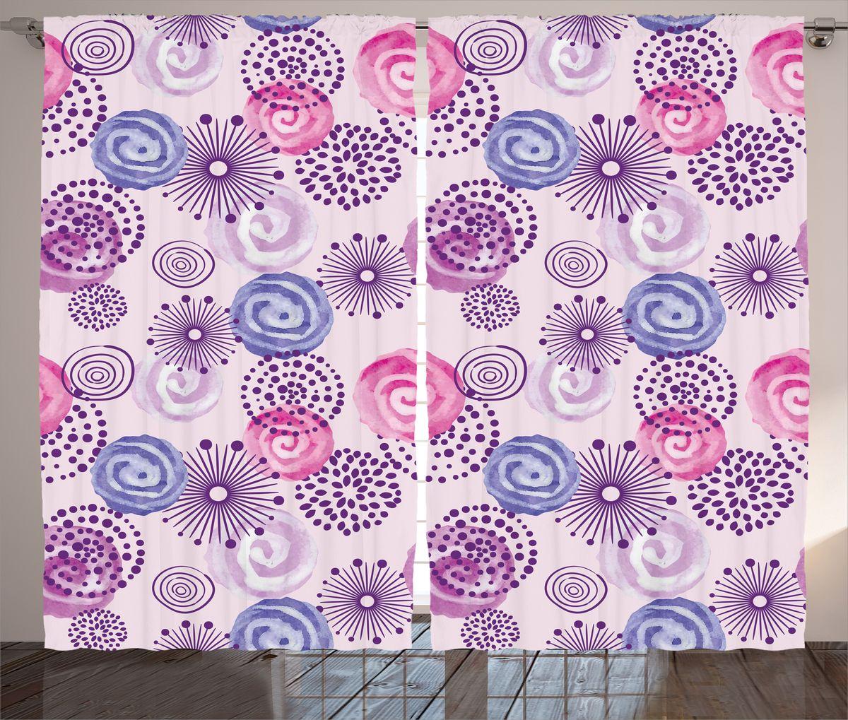 Комплект фотоштор Magic Lady Узор с цветными завитками, на ленте, высота 265 см. шсг_16806СД-00600-ФШ-ГБ-001Компания Сэмболь изготавливает шторы из высококачественного сатена (полиэстер 100%). При изготовлении используются специальные гипоаллергенные чернила для прямой печати по ткани, безопасные для человека и животных. Экологичность продукции Magic lady и безопасность для окружающей среды подтверждены сертификатом Oeko-Tex Standard 100. Крепление: крючки для крепления на шторной ленте (50 шт). Возможно крепление на трубу. Внимание! При нанесении сублимационной печати на ткань технологическим методом при температуре 240°С, возможно отклонение полученных размеров (указанных на этикетке и сайте) от стандартных на + - 3-5 см. Производитель старается максимально точно передать цвета изделия на фотографиях, однако искажения неизбежны и фактический цвет изделия может отличаться от воспринимаемого по фото. Обратите внимание! Шторы изготовлены из полиэстра сатенового переплетения, а не из сатина (хлопок). Размер одного полотна шторы: 145х265 см. В комплекте 2 полотна шторы и 50 крючков.