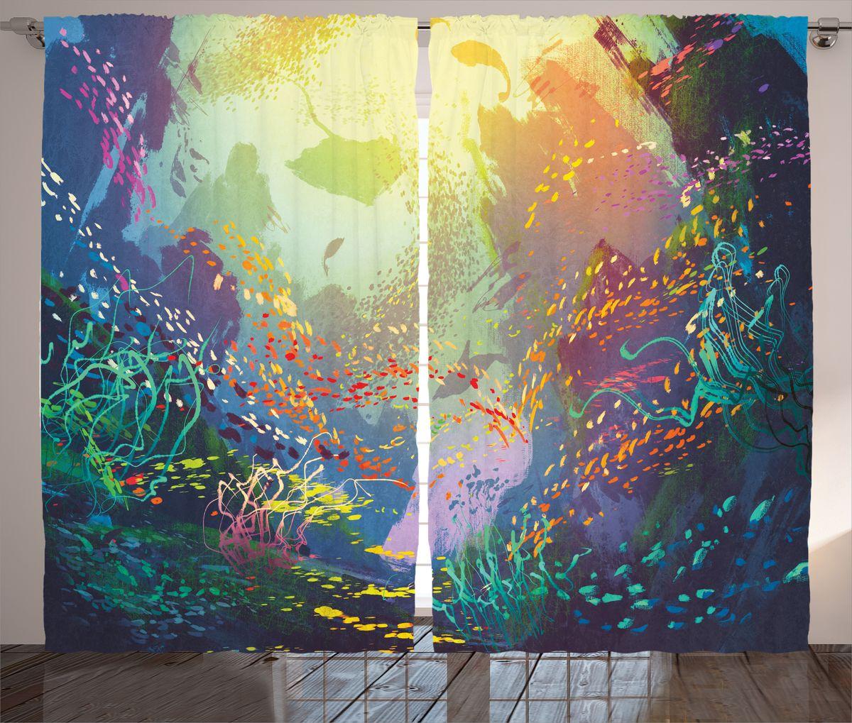 Комплект фотоштор Magic Lady Красота подводного мира, на ленте, высота 265 см. шсг_17281шсг_2288Компания Сэмболь изготавливает шторы из высококачественного сатена (полиэстер 100%). При изготовлении используются специальные гипоаллергенные чернила для прямой печати по ткани, безопасные для человека и животных. Экологичность продукции Magic lady и безопасность для окружающей среды подтверждены сертификатом Oeko-Tex Standard 100. Крепление: крючки для крепления на шторной ленте (50 шт). Возможно крепление на трубу. Внимание! При нанесении сублимационной печати на ткань технологическим методом при температуре 240°С, возможно отклонение полученных размеров (указанных на этикетке и сайте) от стандартных на + - 3-5 см. Производитель старается максимально точно передать цвета изделия на фотографиях, однако искажения неизбежны и фактический цвет изделия может отличаться от воспринимаемого по фото. Обратите внимание! Шторы изготовлены из полиэстра сатенового переплетения, а не из сатина (хлопок). Размер одного полотна шторы: 145х265 см. В комплекте 2 полотна шторы и 50 крючков.