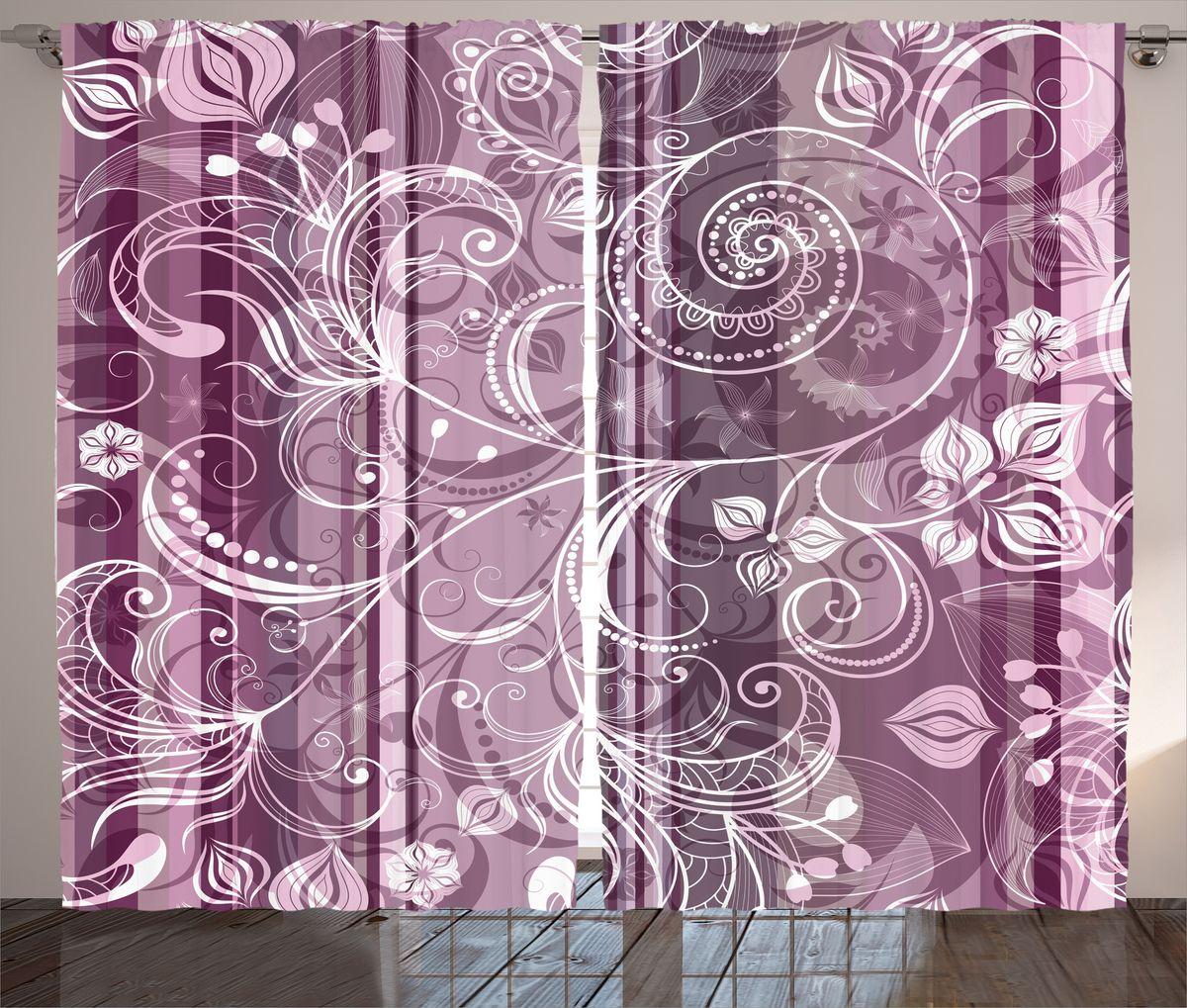 Комплект фотоштор Magic Lady Узоры на лиловом фоне, на ленте, высота 265 см. шсг_17703шсг_14920Компания Сэмболь изготавливает шторы из высококачественного сатена (полиэстер 100%). При изготовлении используются специальные гипоаллергенные чернила для прямой печати по ткани, безопасные для человека и животных. Экологичность продукции Magic lady и безопасность для окружающей среды подтверждены сертификатом Oeko-Tex Standard 100. Крепление: крючки для крепления на шторной ленте (50 шт). Возможно крепление на трубу. Внимание! При нанесении сублимационной печати на ткань технологическим методом при температуре 240°С, возможно отклонение полученных размеров (указанных на этикетке и сайте) от стандартных на + - 3-5 см. Производитель старается максимально точно передать цвета изделия на фотографиях, однако искажения неизбежны и фактический цвет изделия может отличаться от воспринимаемого по фото. Обратите внимание! Шторы изготовлены из полиэстра сатенового переплетения, а не из сатина (хлопок). Размер одного полотна шторы: 145х265 см. В комплекте 2 полотна шторы и 50 крючков.