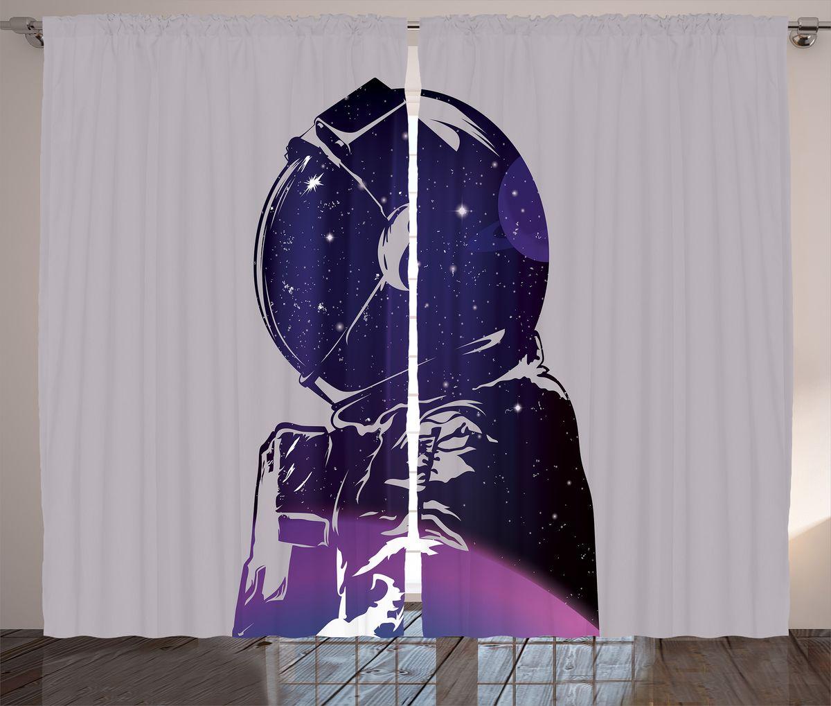 Комплект фотоштор Magic Lady Силуэт космонавта с планетой и звездами, на ленте, высота 265 см. шсг_1993821371Компания Сэмболь изготавливает шторы из высококачественного сатена (полиэстер 100%). При изготовлении используются специальные гипоаллергенные чернила для прямой печати по ткани, безопасные для человека и животных. Экологичность продукции Magic lady и безопасность для окружающей среды подтверждены сертификатом Oeko-Tex Standard 100. Крепление: крючки для крепления на шторной ленте (50 шт). Возможно крепление на трубу. Внимание! При нанесении сублимационной печати на ткань технологическим методом при температуре 240°С, возможно отклонение полученных размеров (указанных на этикетке и сайте) от стандартных на + - 3-5 см. Производитель старается максимально точно передать цвета изделия на фотографиях, однако искажения неизбежны и фактический цвет изделия может отличаться от воспринимаемого по фото. Обратите внимание! Шторы изготовлены из полиэстра сатенового переплетения, а не из сатина (хлопок). Размер одного полотна шторы: 145х265 см. В комплекте 2 полотна шторы и 50 крючков.